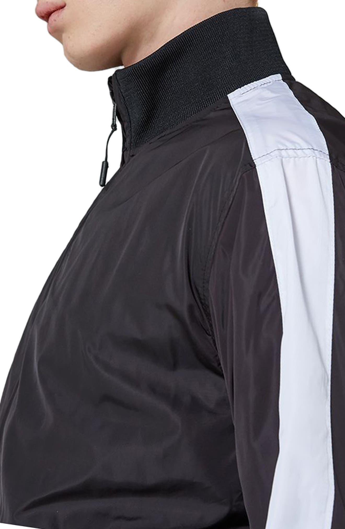 Sport Track Jacket,                             Alternate thumbnail 3, color,                             Black Multi