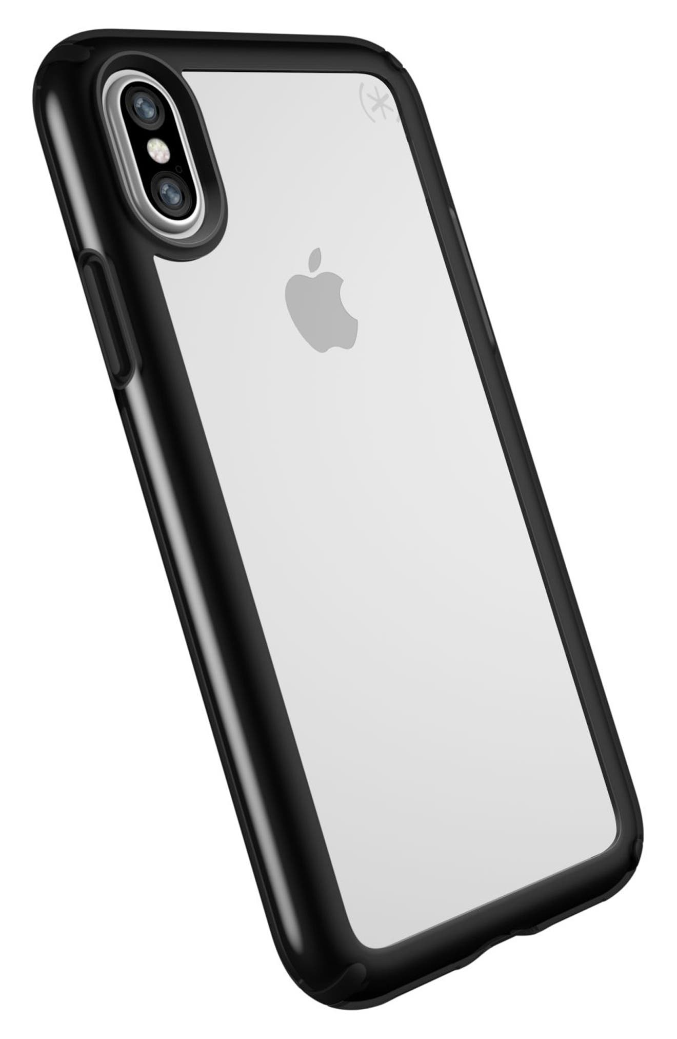 Transparent iPhone X Case,                             Alternate thumbnail 4, color,                             Clear/ Black