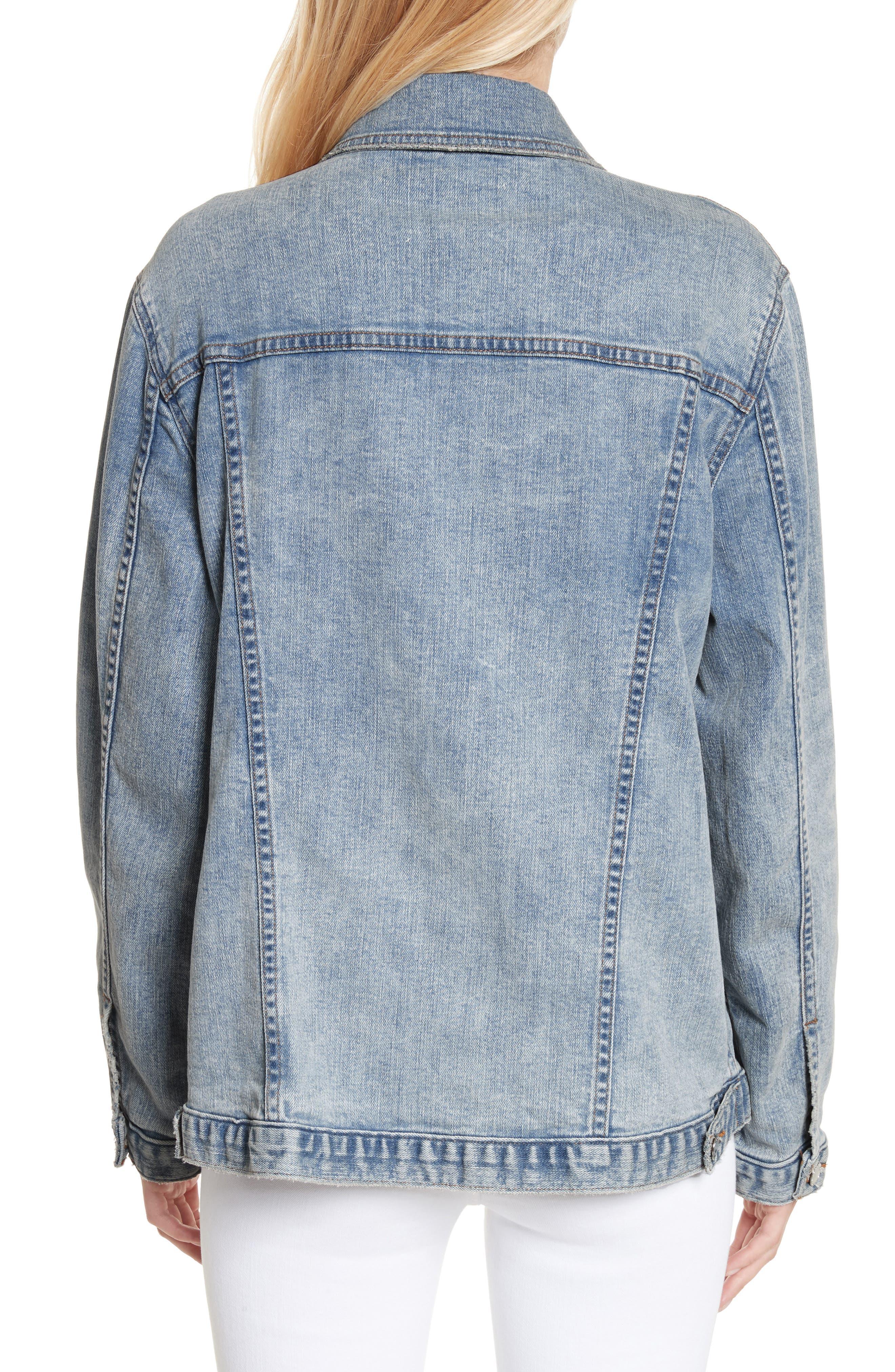 Alternate Image 2  - L'AGENCE Karina Shadow Pocket Denim Jacket