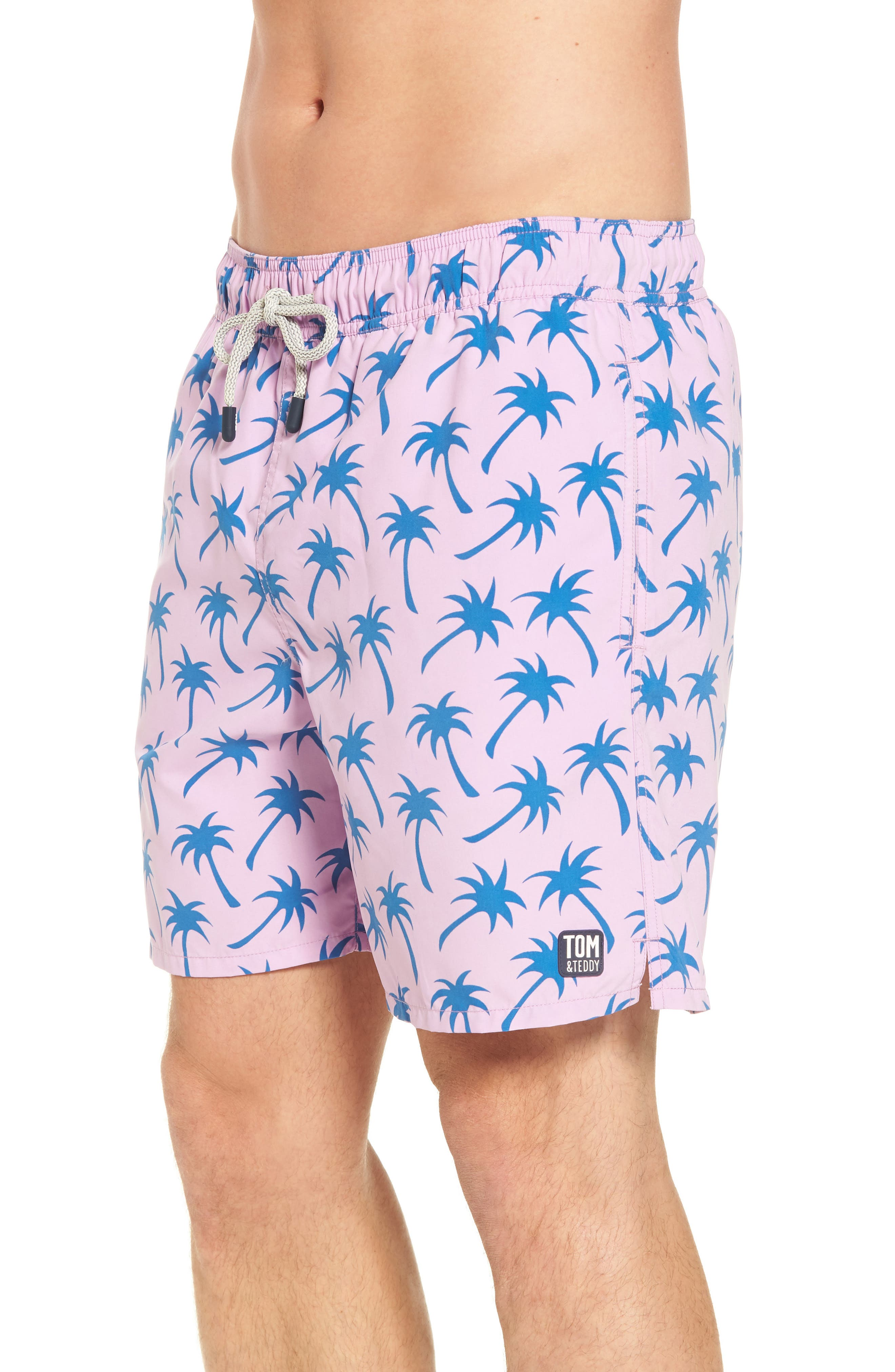 Alternate Image 3  - Tom & Teddy Palm Print Swim Trunks