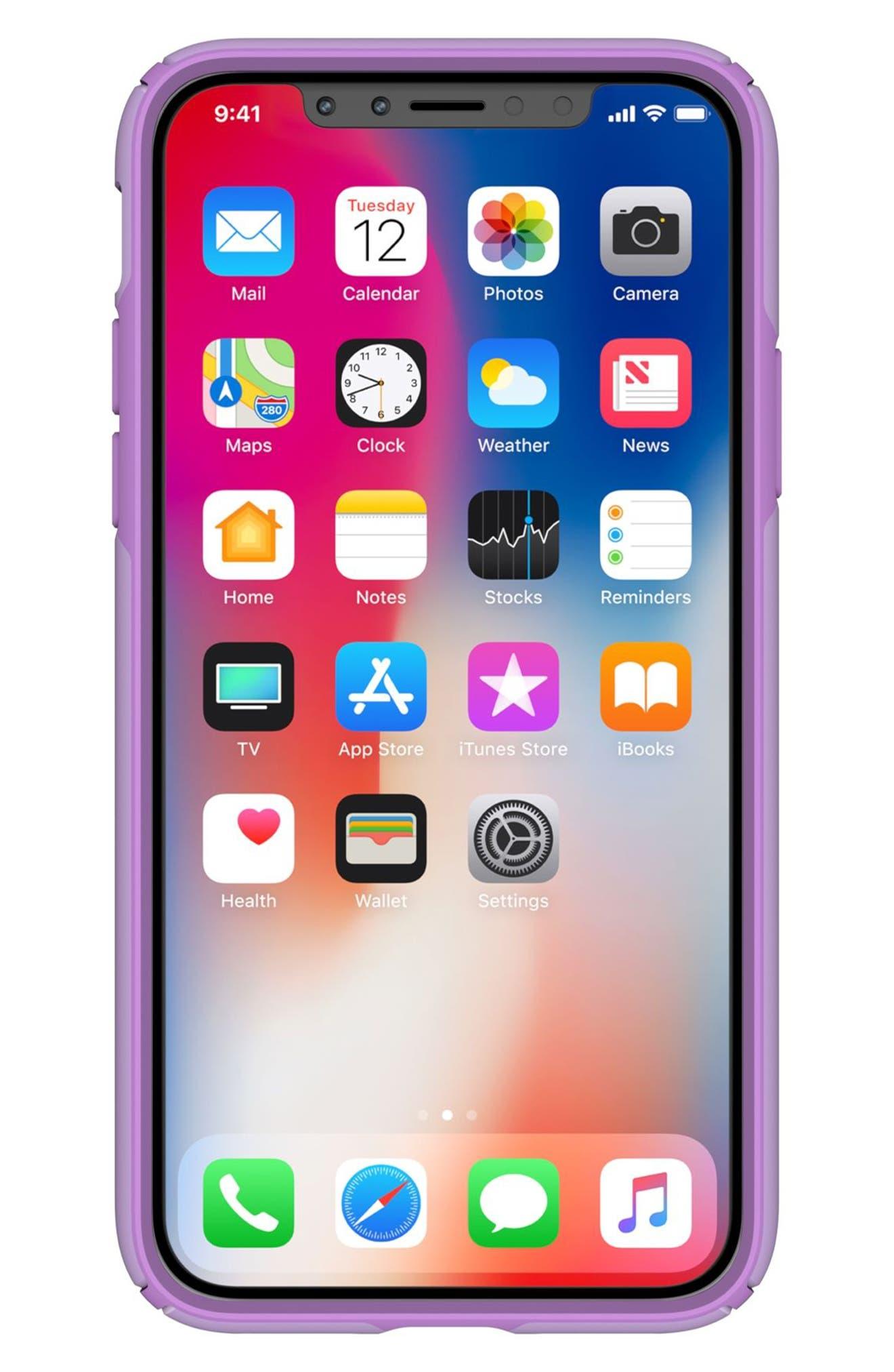 iPhone X Case,                             Alternate thumbnail 8, color,                             Taro Purple Metallic/ Purple