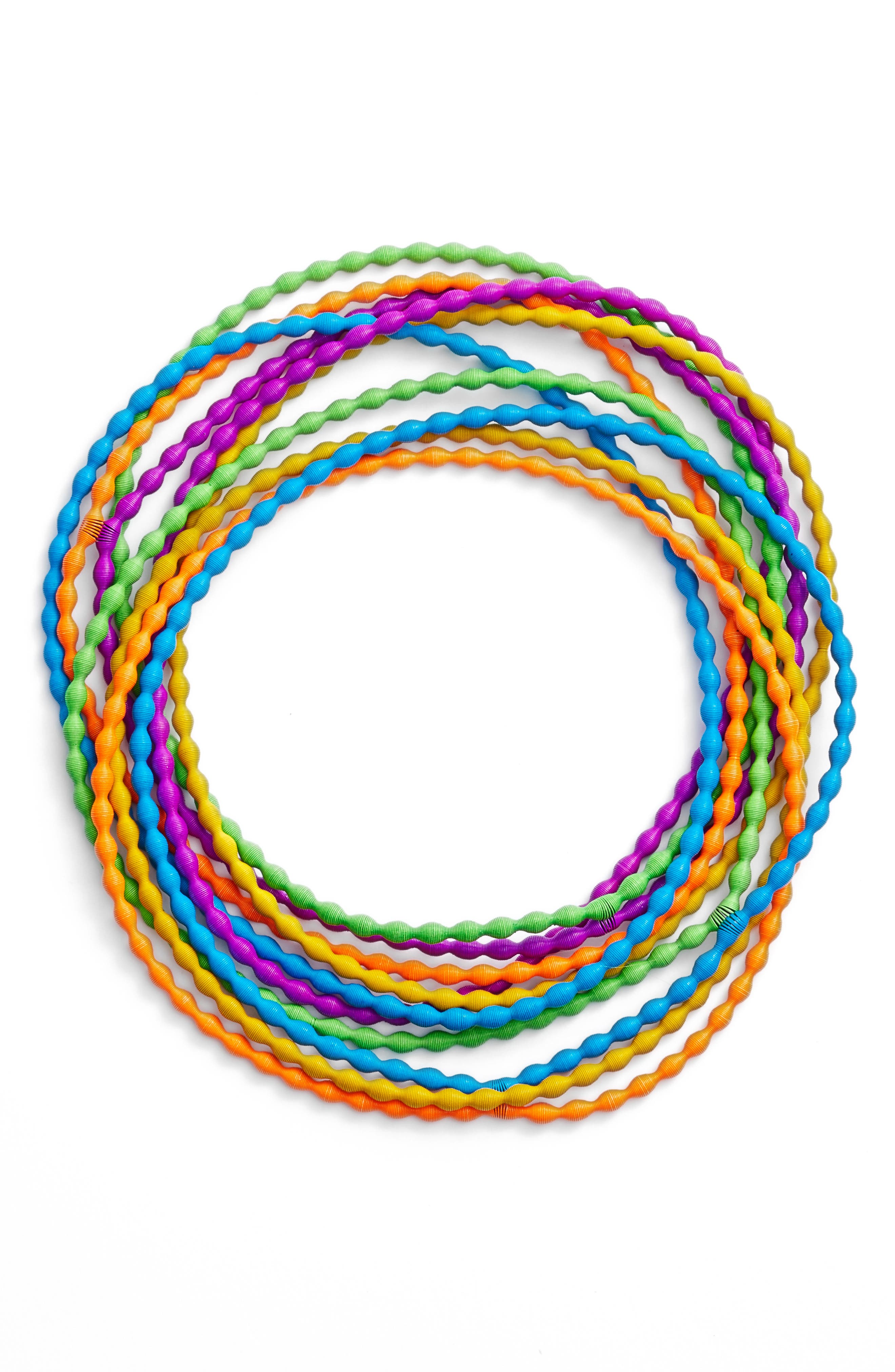 Rice Set of 10 Necklaces,                         Main,                         color, Neon