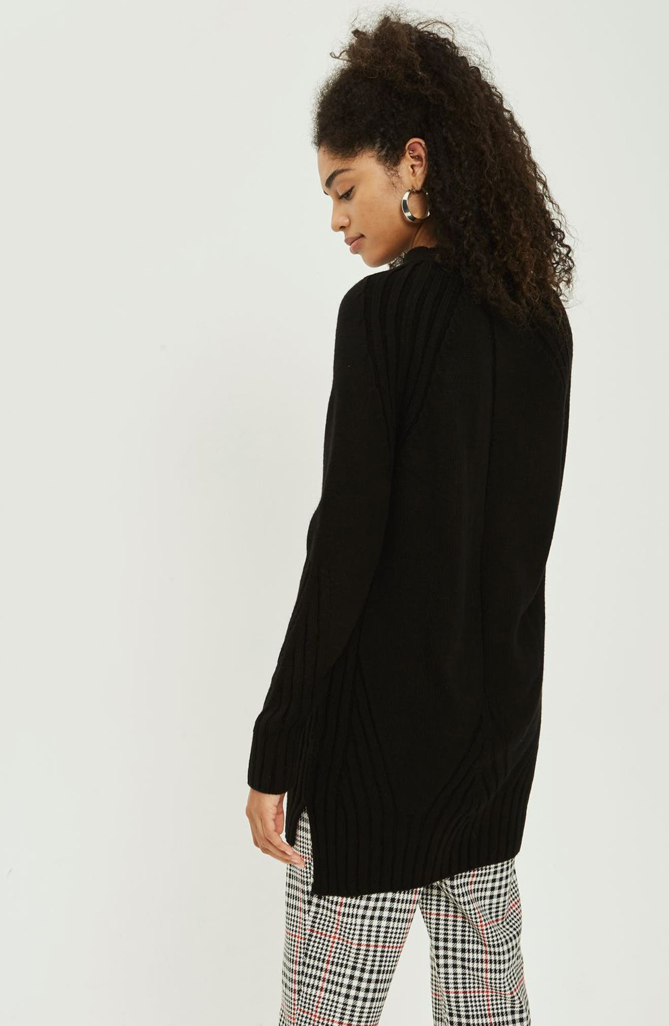 Alternate Image 2  - Topshop Knit Detail Sweater Dress
