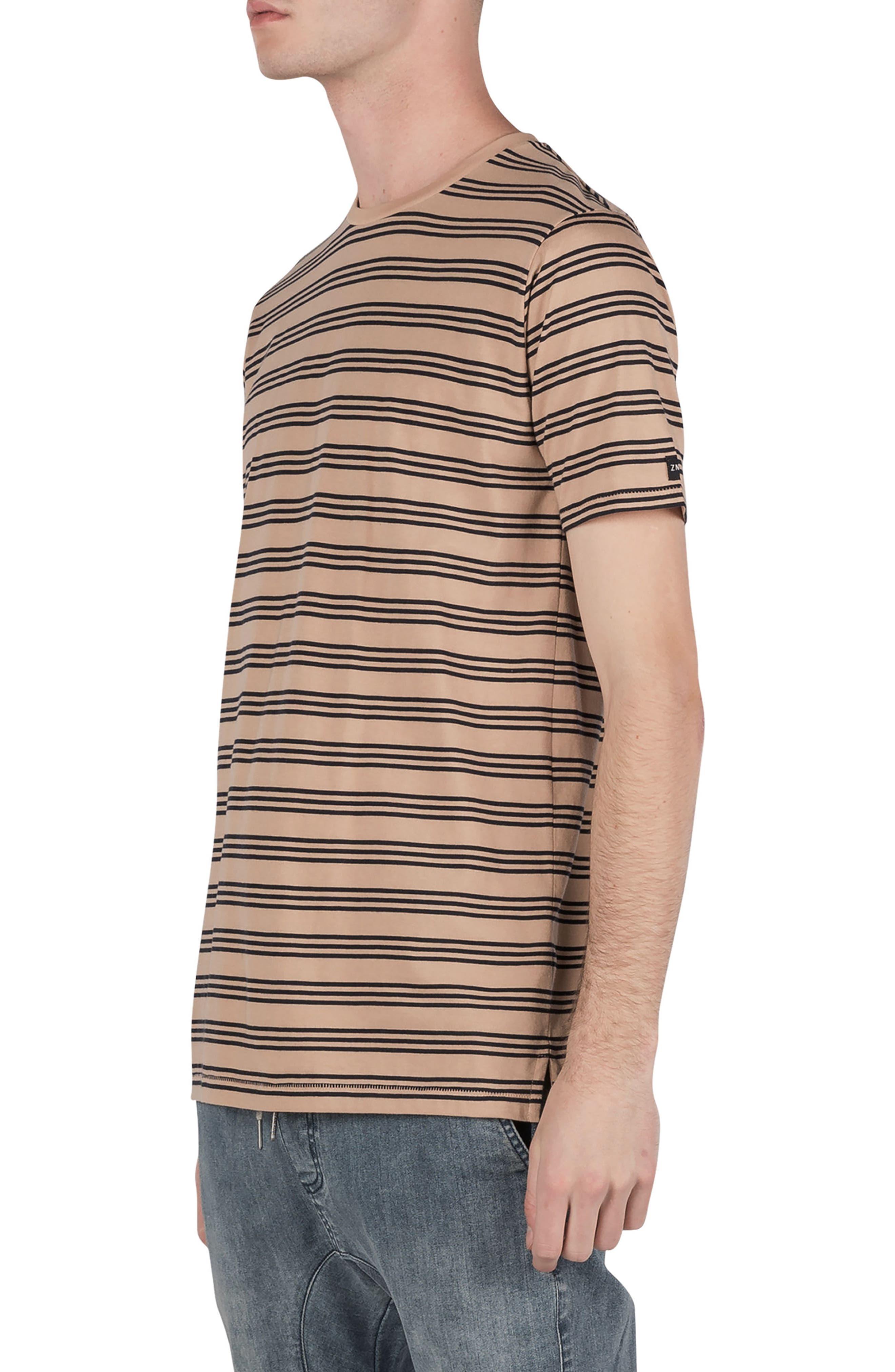 Flintlock Stripe T-Shirt,                             Alternate thumbnail 4, color,                             Wheat/ Navy