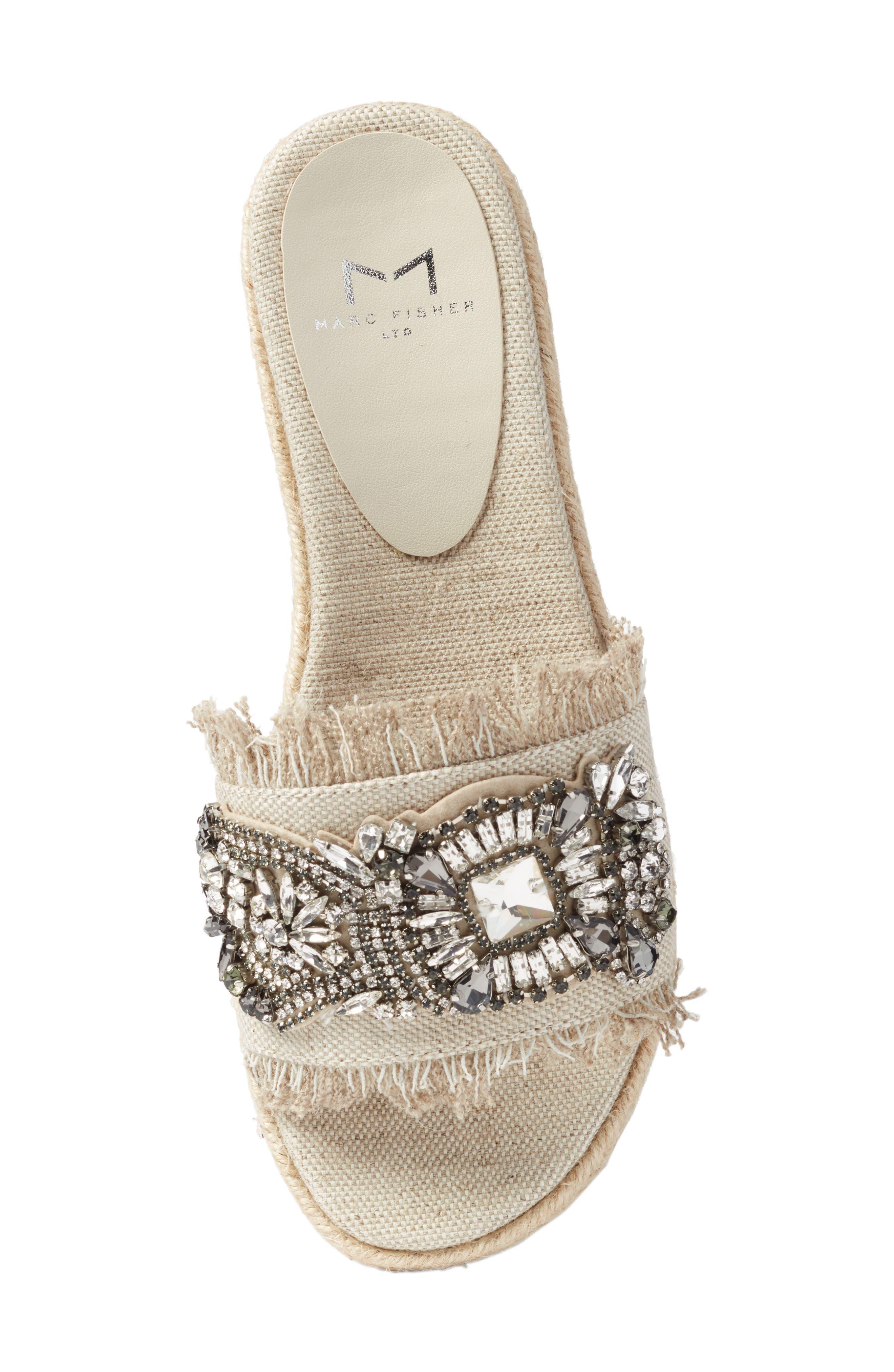Alternate Image 5  - Marc Fisher LTD Jelly II Embellished Sandal (Women)