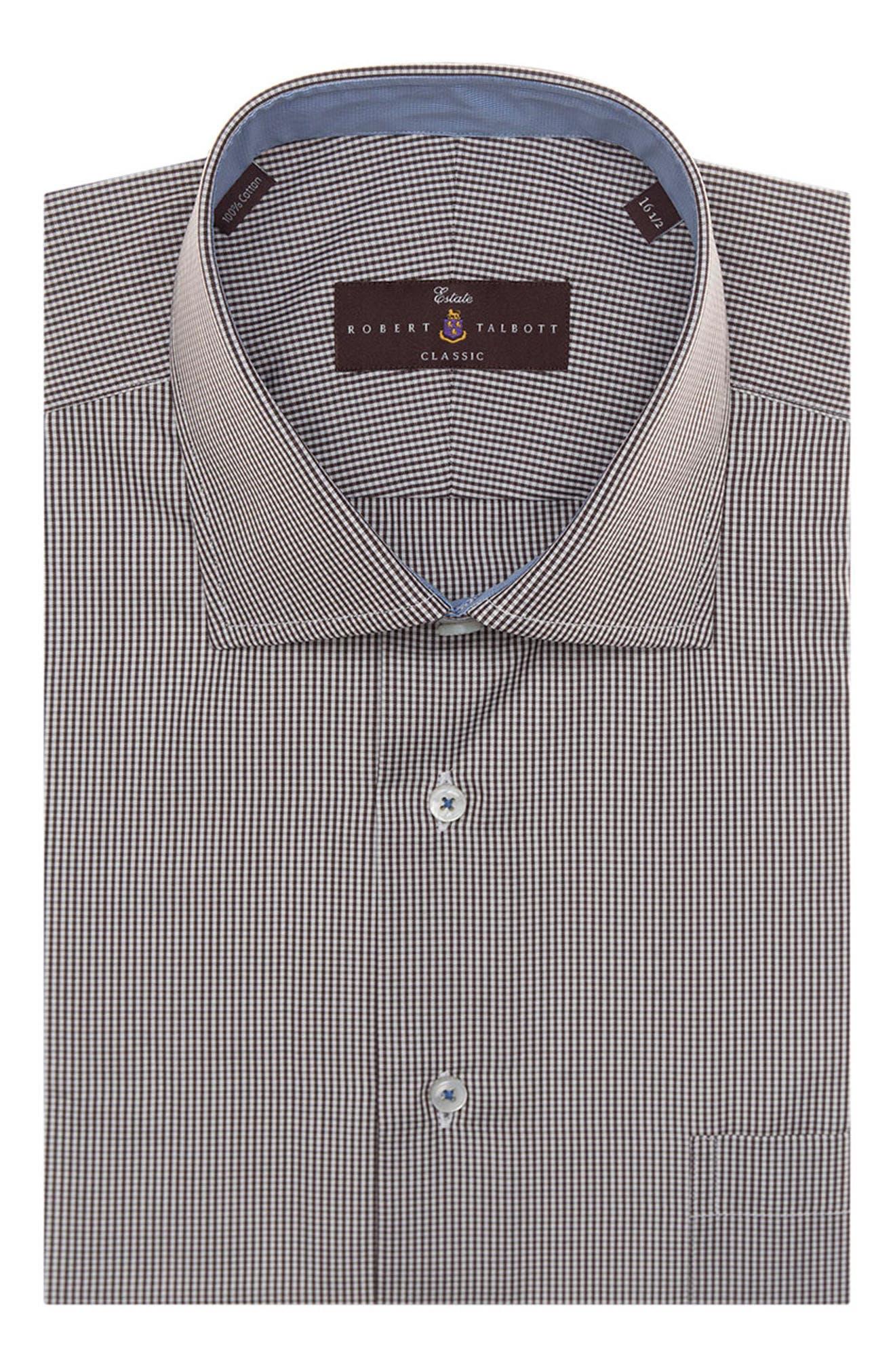 Alternate Image 1 Selected - Robert Talbott Tailored Fit Check Dress Shirt