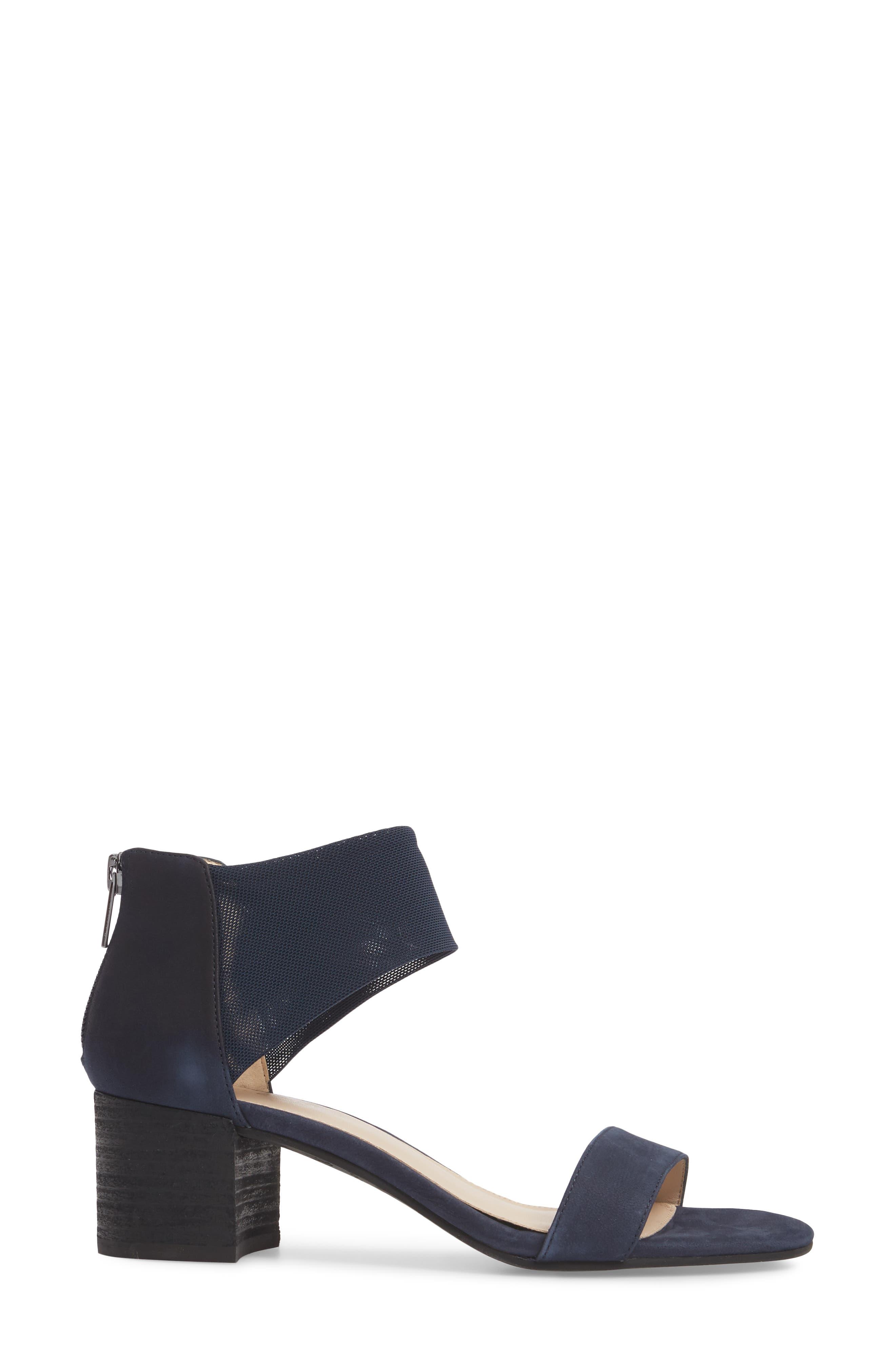 Alden Mesh Strap Sandal,                             Alternate thumbnail 3, color,                             Midnight Nubuck Leather