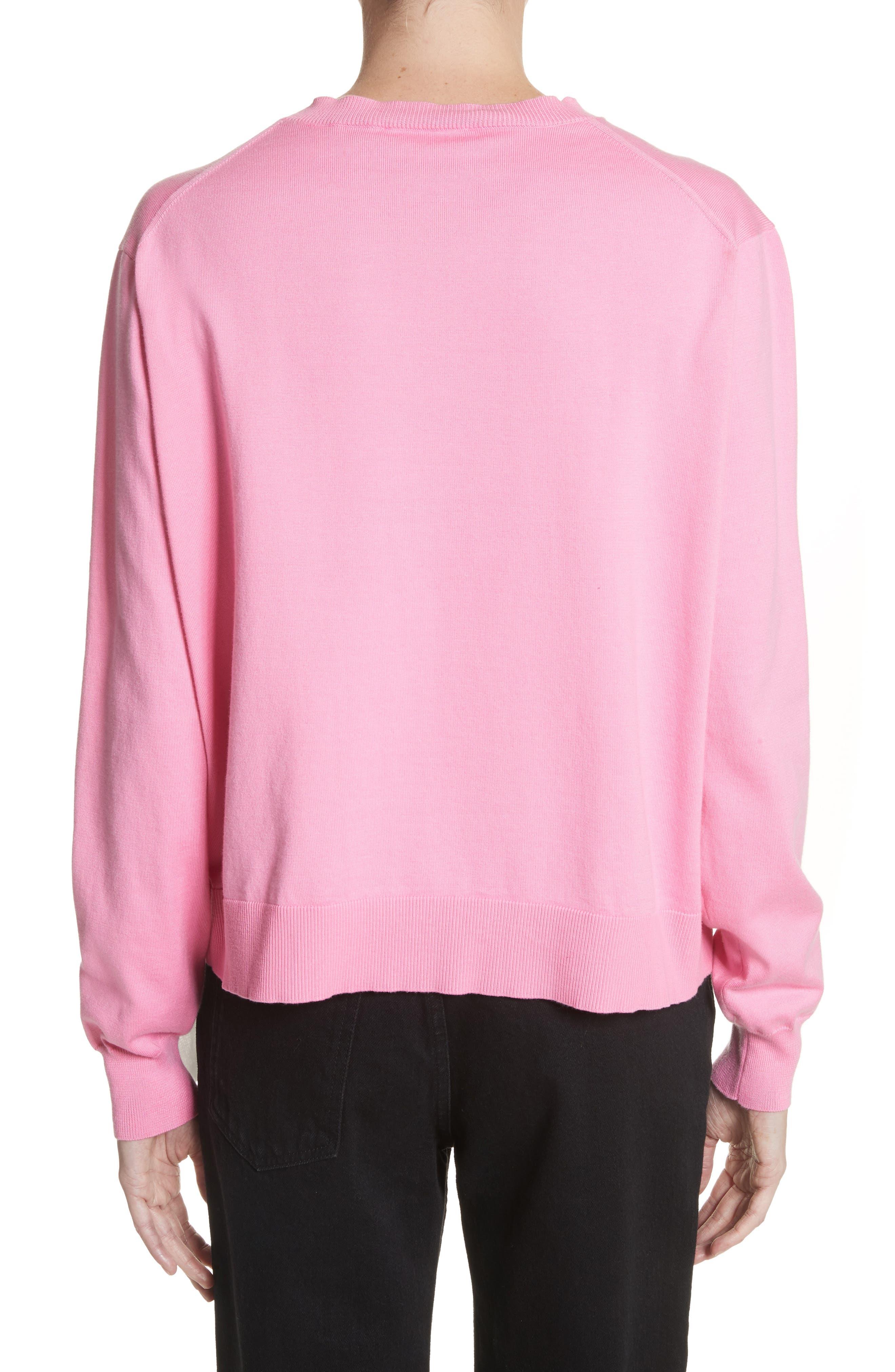 Scarf Hem Sweater,                             Alternate thumbnail 3, color,                             Rose Bloom