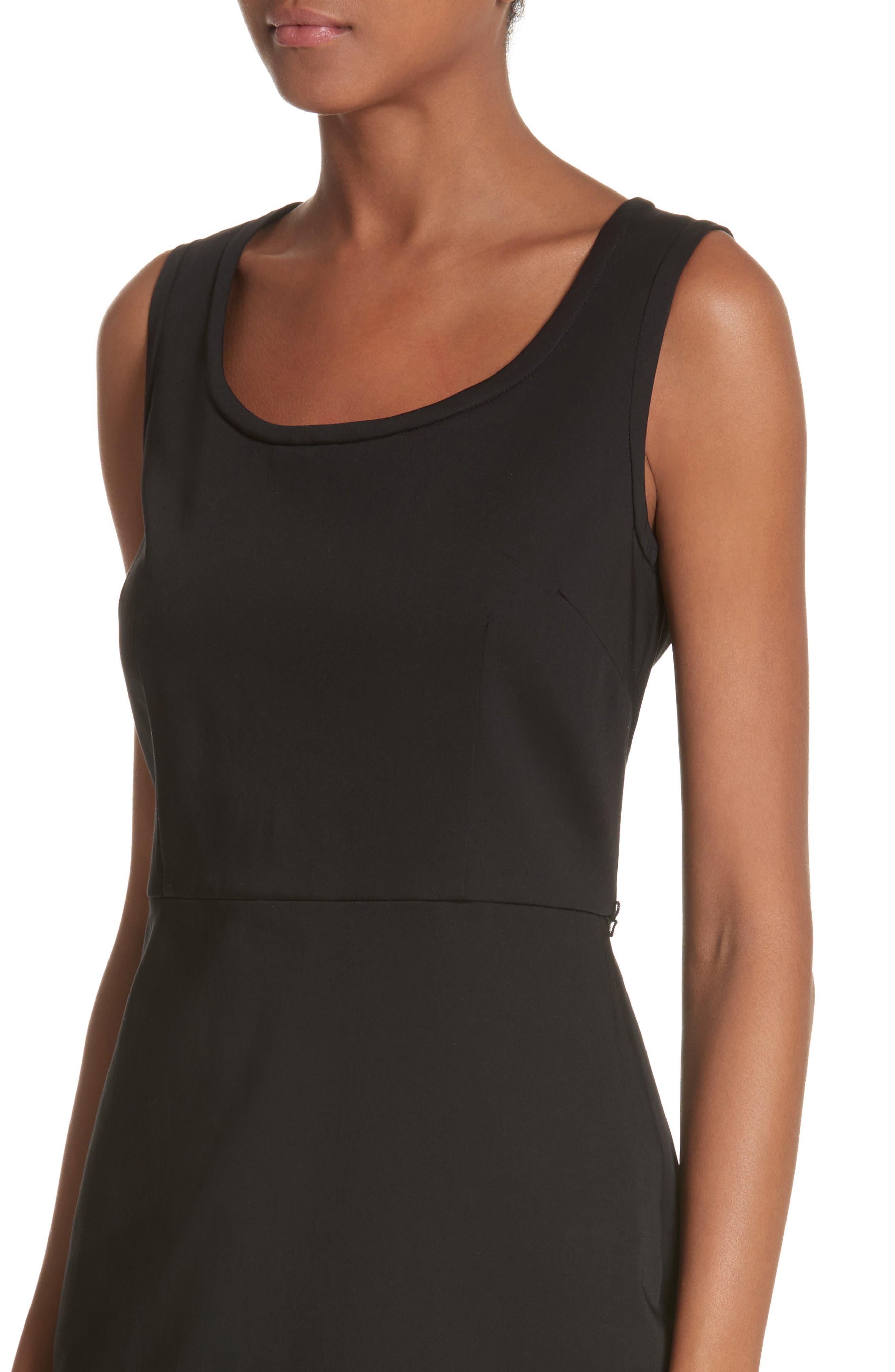 Segnale Sheath Dress,                             Alternate thumbnail 4, color,                             Black