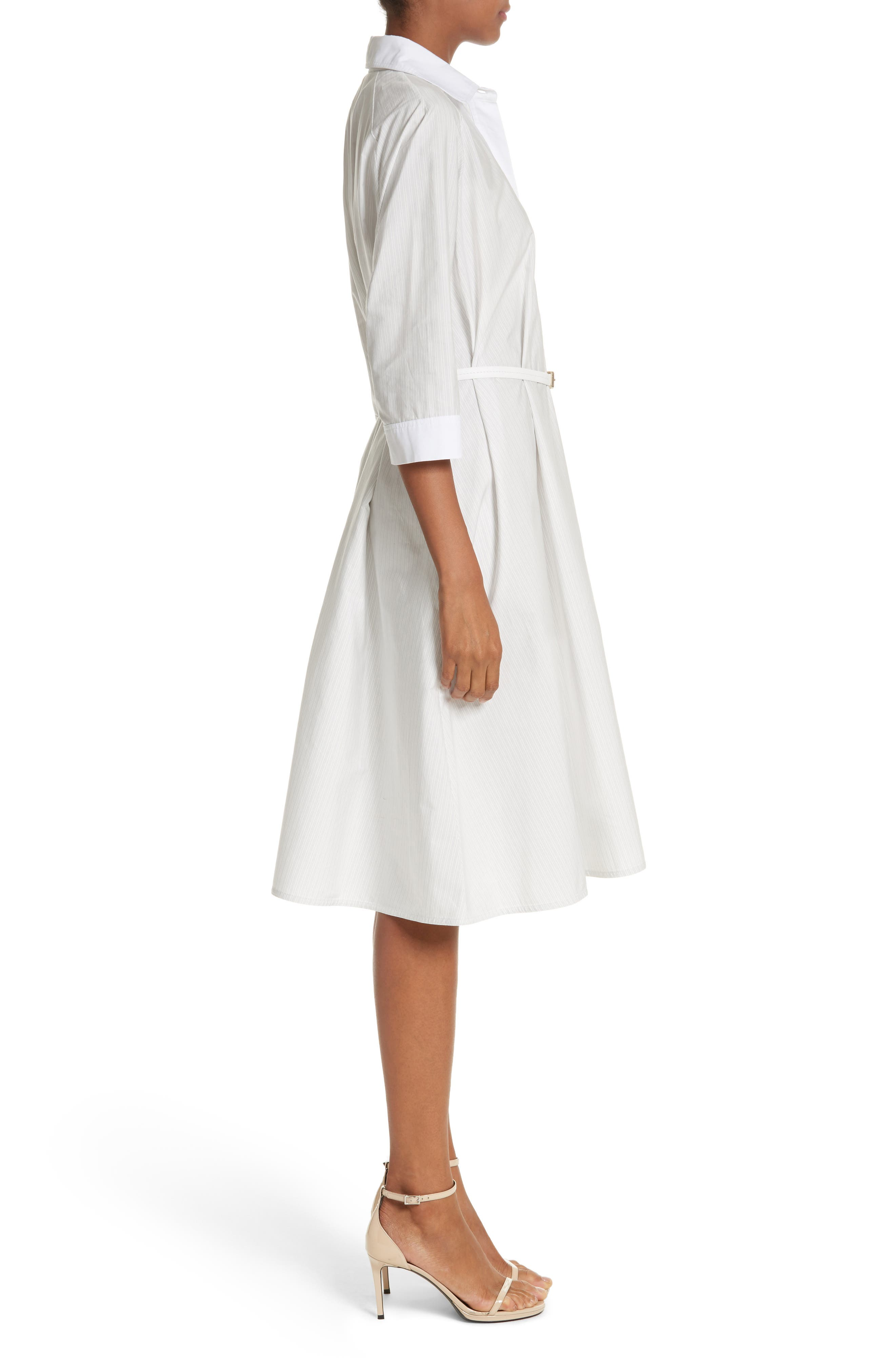 Parola Cotton Shirtdress,                             Alternate thumbnail 3, color,                             Light Grey