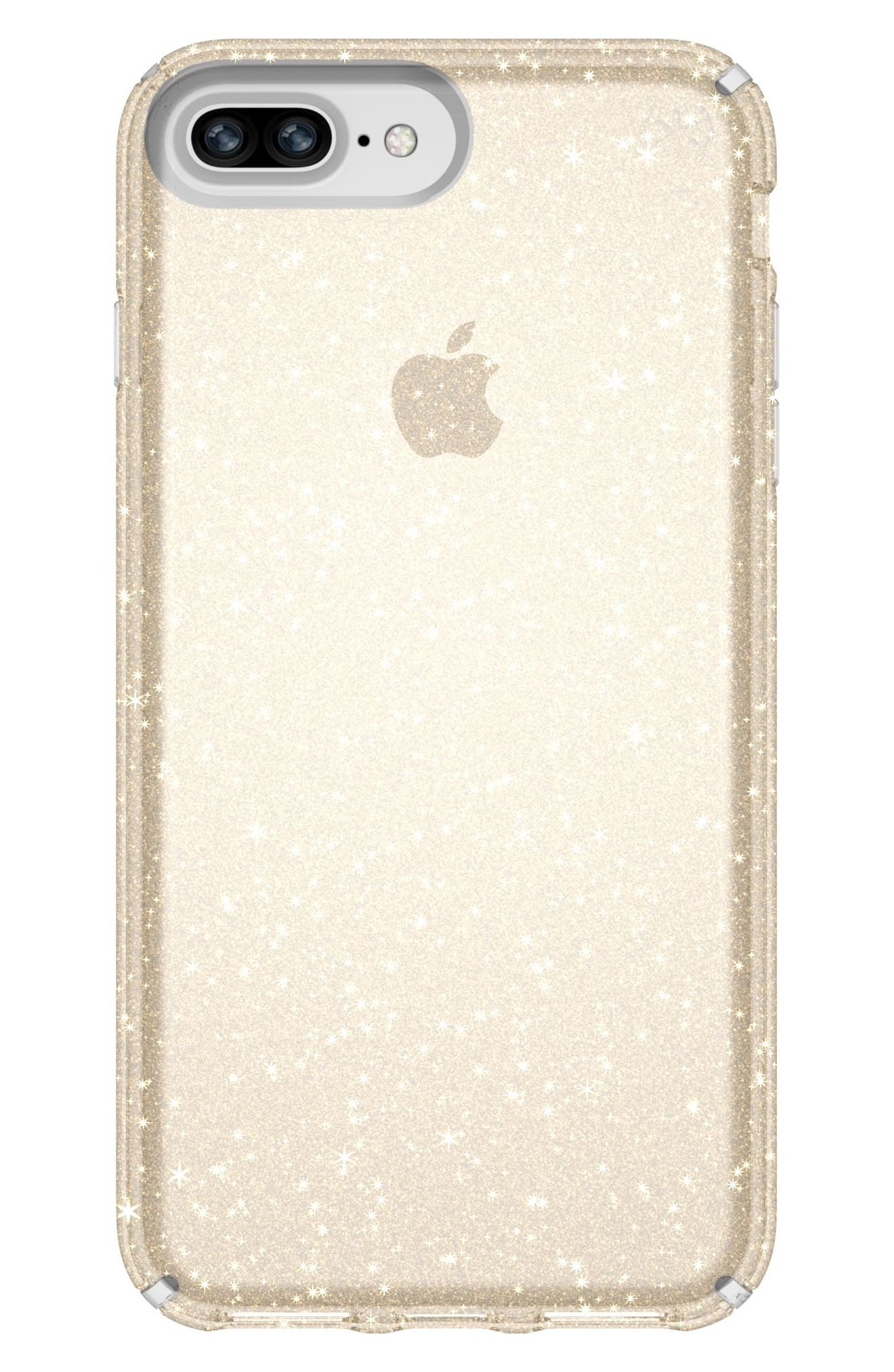 iPhone 6/6s/7/8 Plus Case,                             Main thumbnail 1, color,                             Clear With Gold Glitter/ Clear