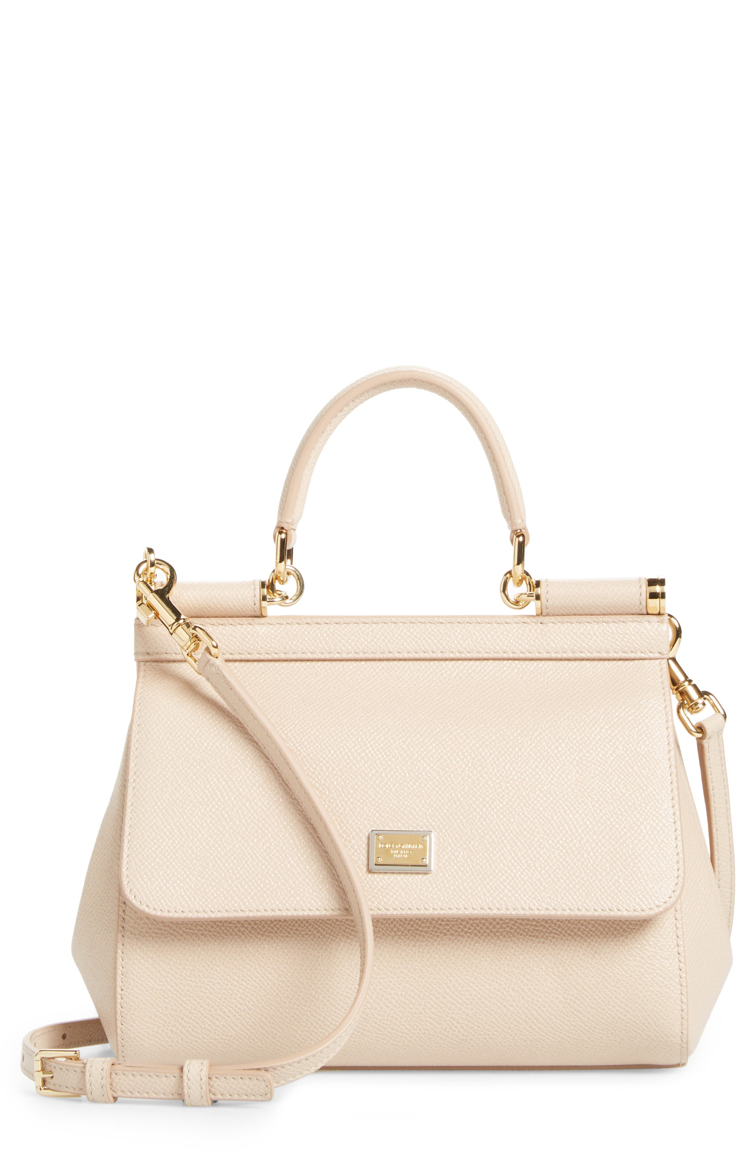 Small Miss Sicily Leather Satchel,                         Main,                         color, Pink Skin