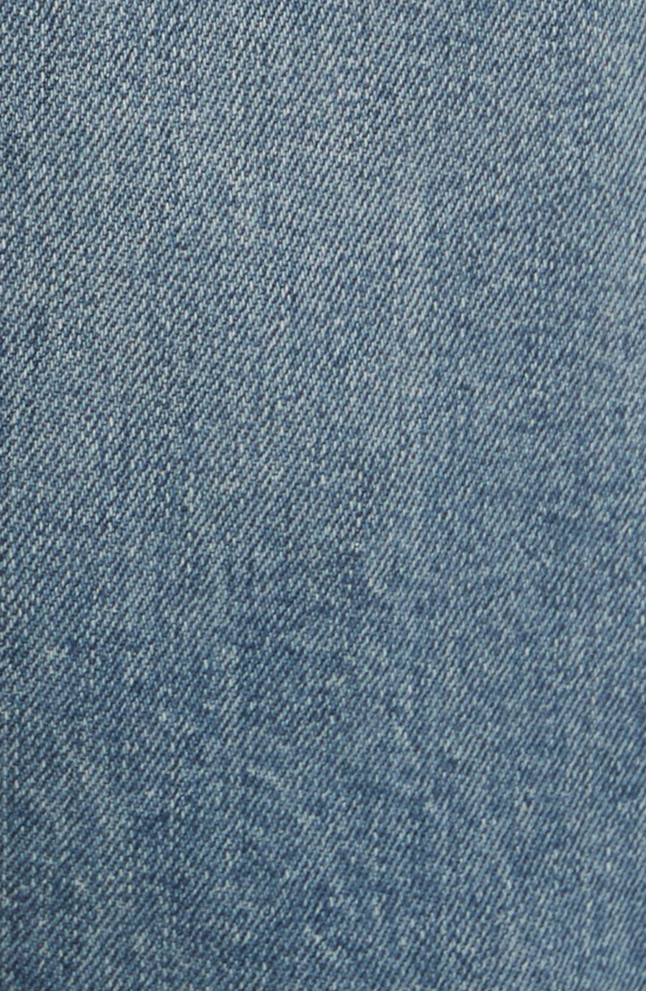 Destroyed Skinny Fit Jeans,                             Alternate thumbnail 5, color,                             Blu 88