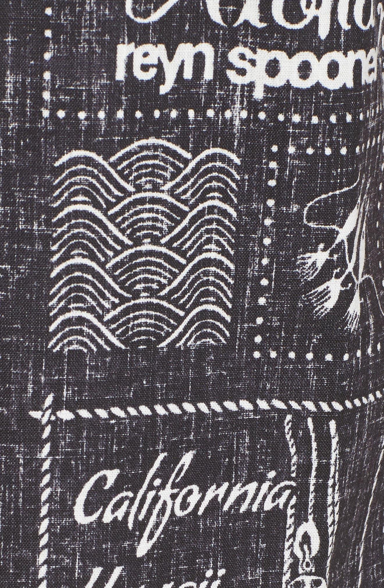 Stories from the East Regular Fit Sport Shirt,                             Alternate thumbnail 5, color,                             Black