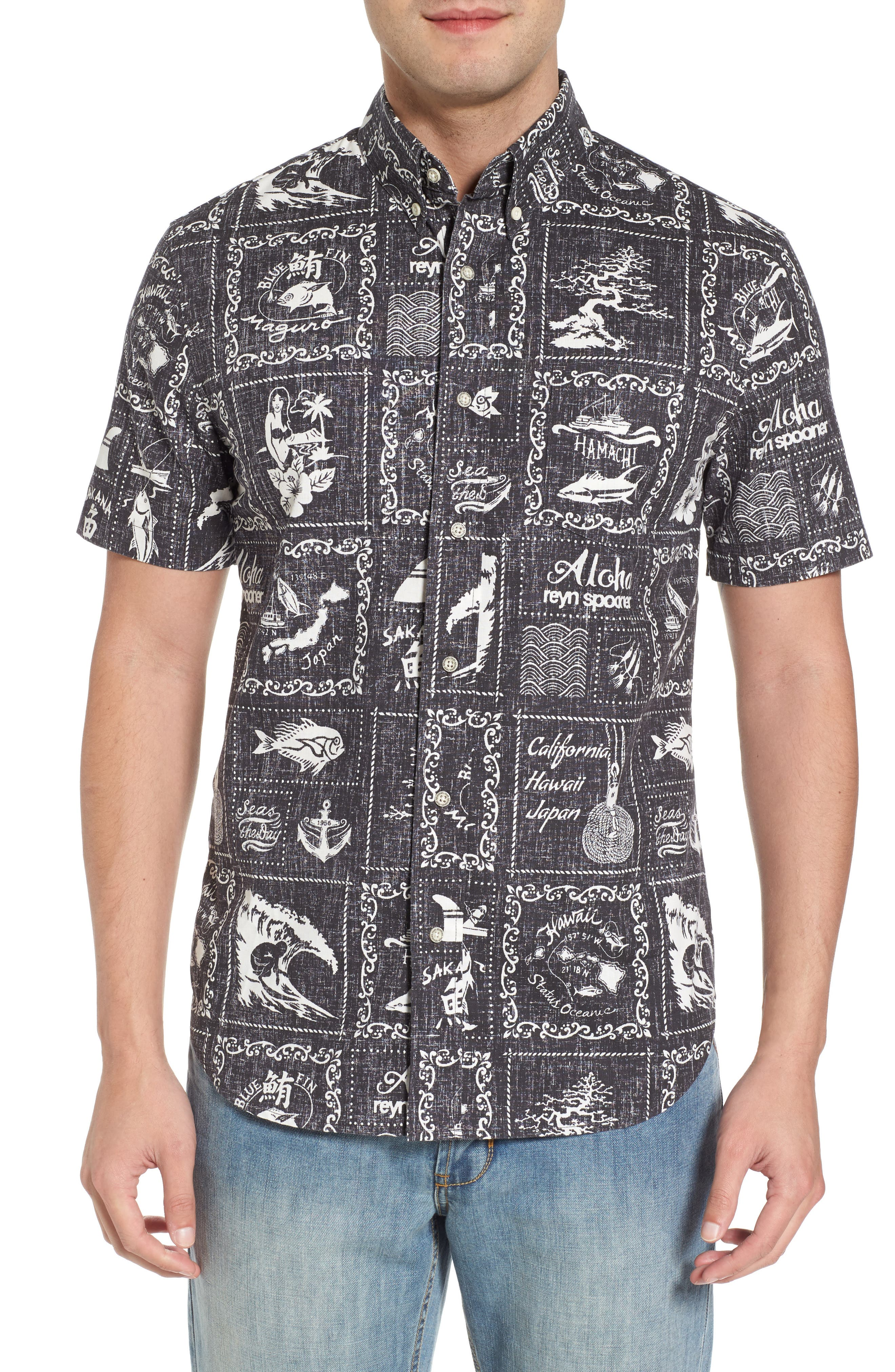 Stories from the East Regular Fit Sport Shirt,                         Main,                         color, Black