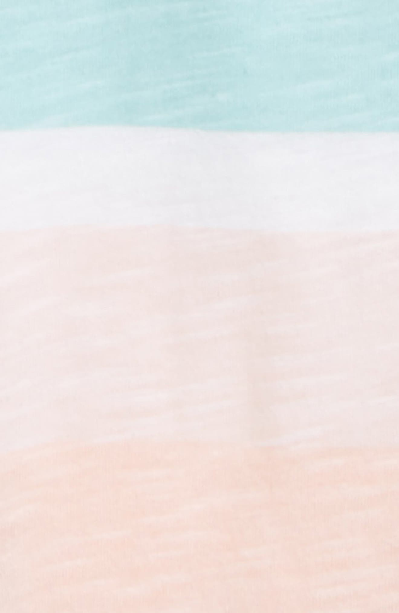 Alternate Image 2  - Burt's Bees Baby Desert Stripe Organic Cotton Romper (Baby Girls)