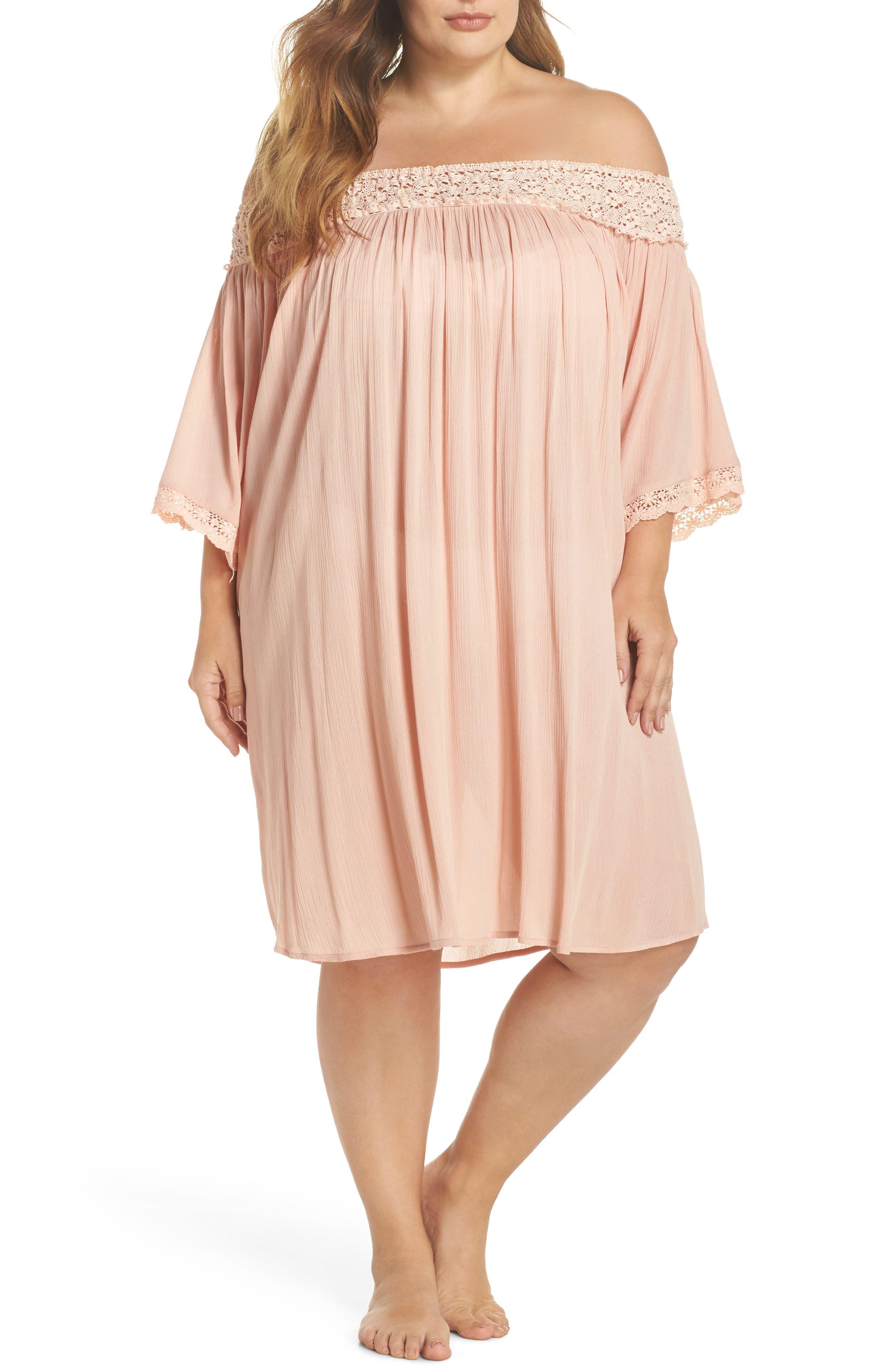 Rimini Crochet Cover-Up Dress,                         Main,                         color, Pink