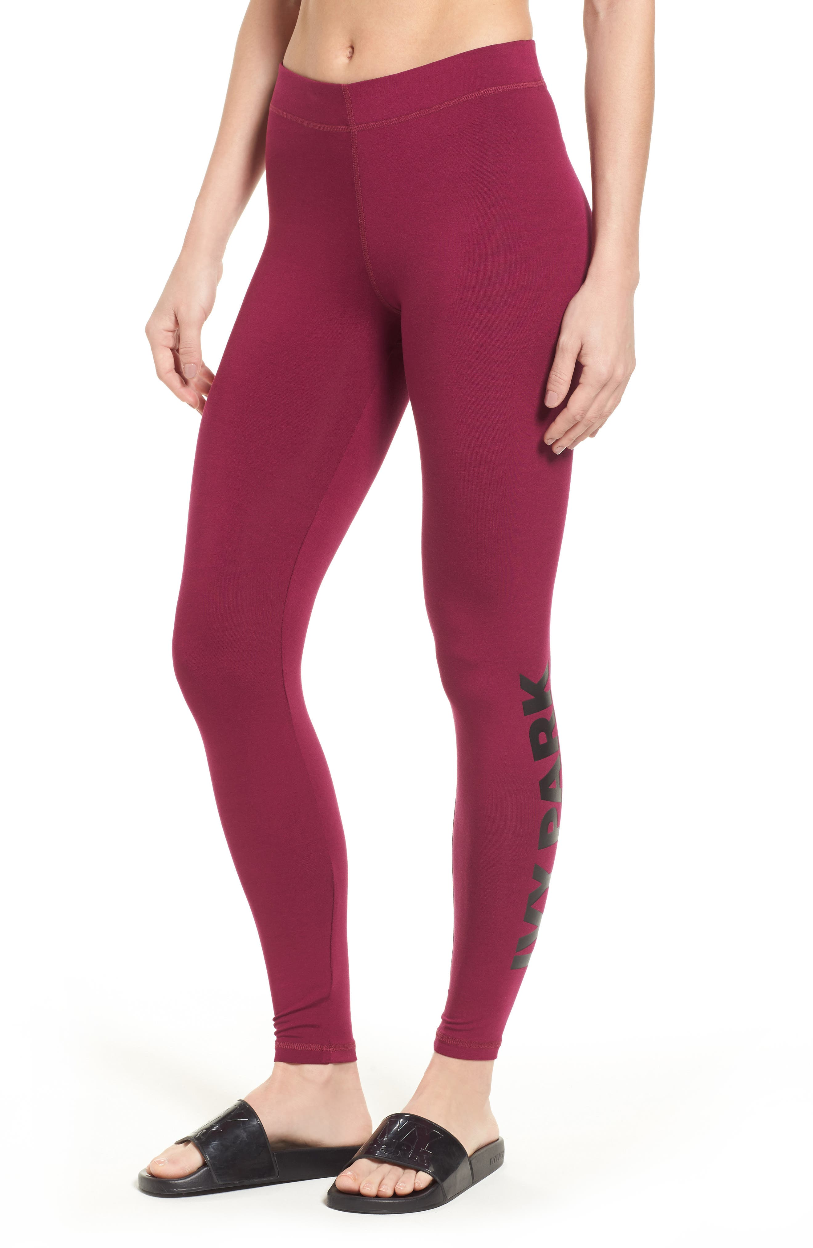 Logo Ankle Leggings,                             Main thumbnail 1, color,                             Purple Potion