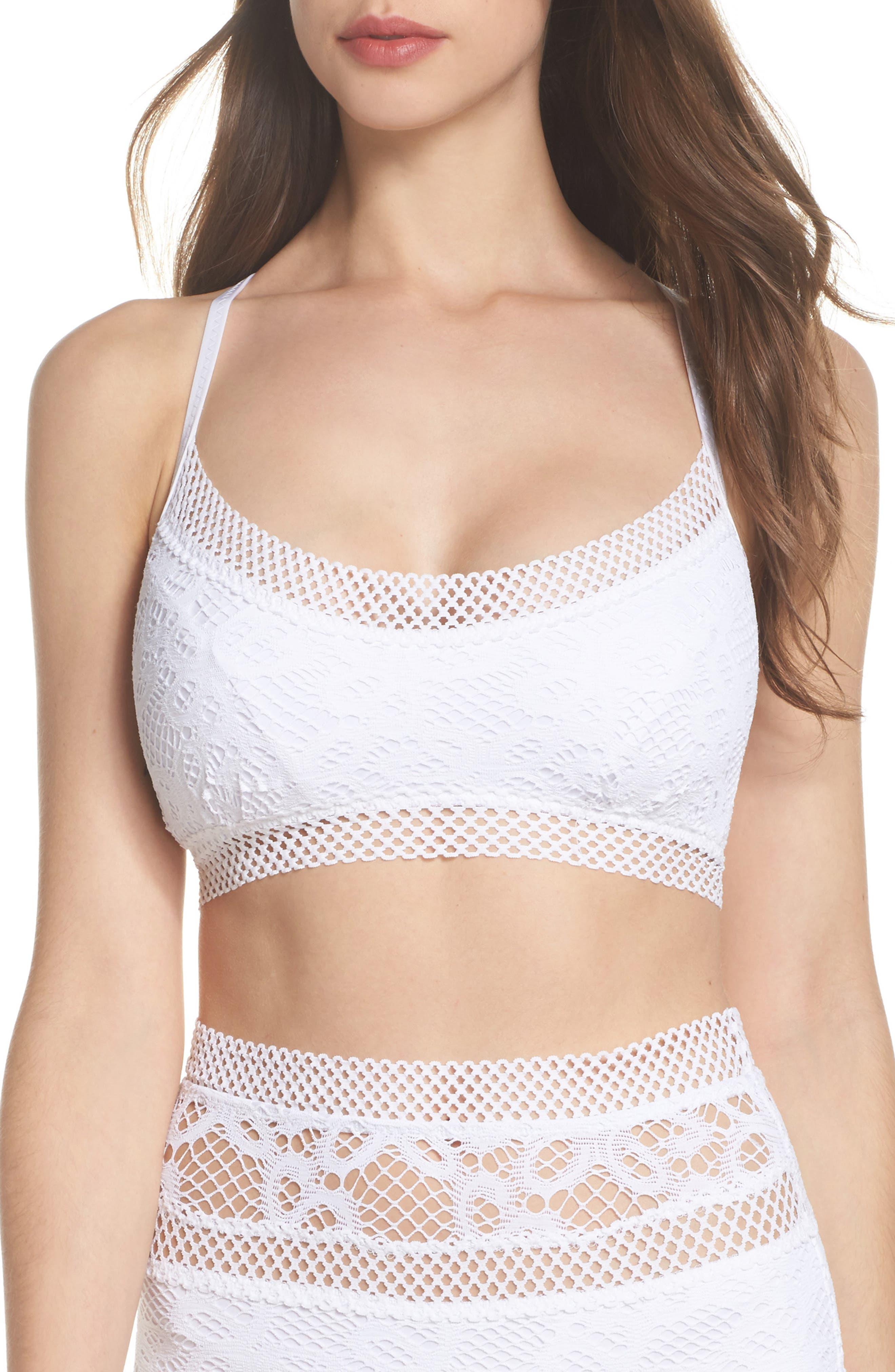 Main Image - Becca Captured Crochet Full Figure Bikini Top