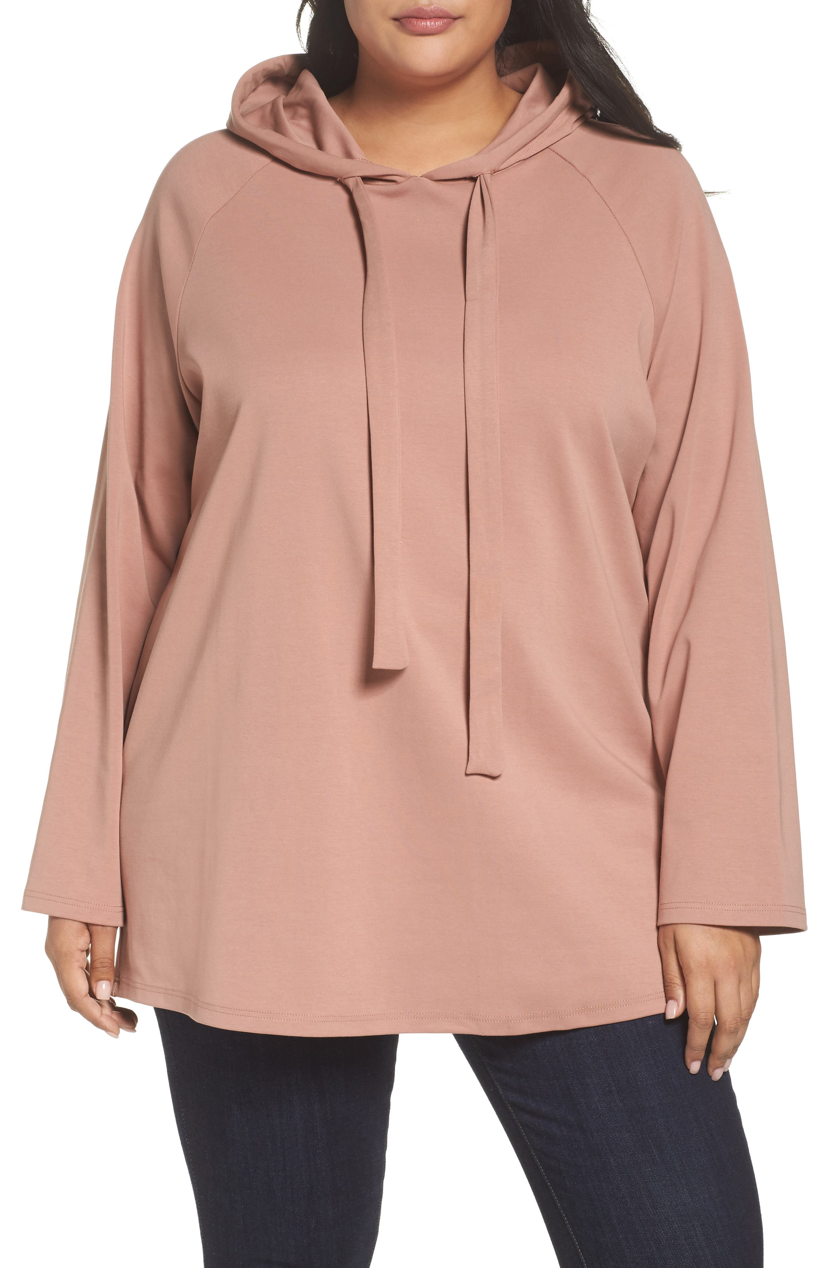 Hoodie Tunic,                             Main thumbnail 1, color,                             Dusty Rose