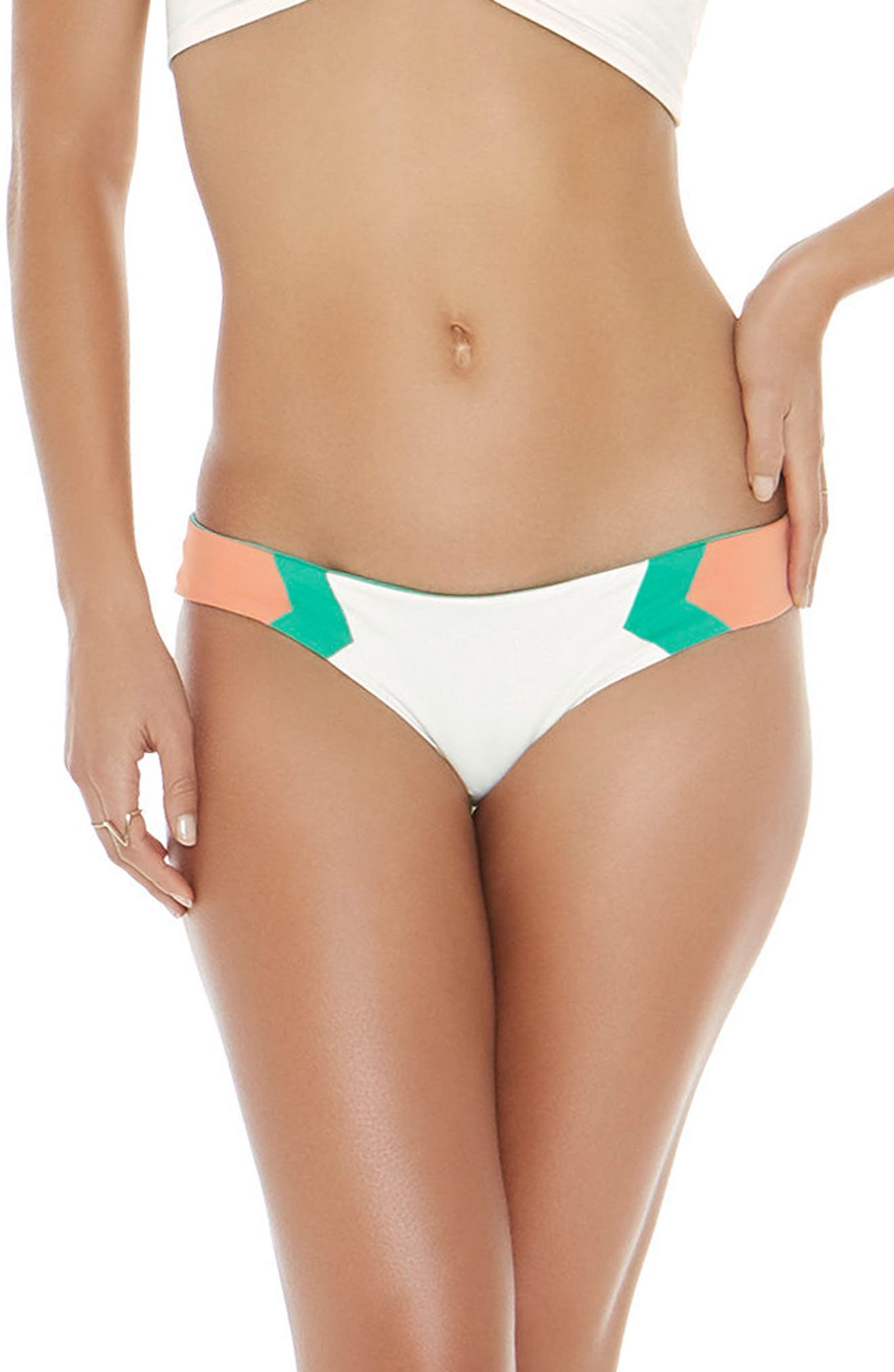 L Space Baracuda Reversible Classic Hipster Bikini Bottoms