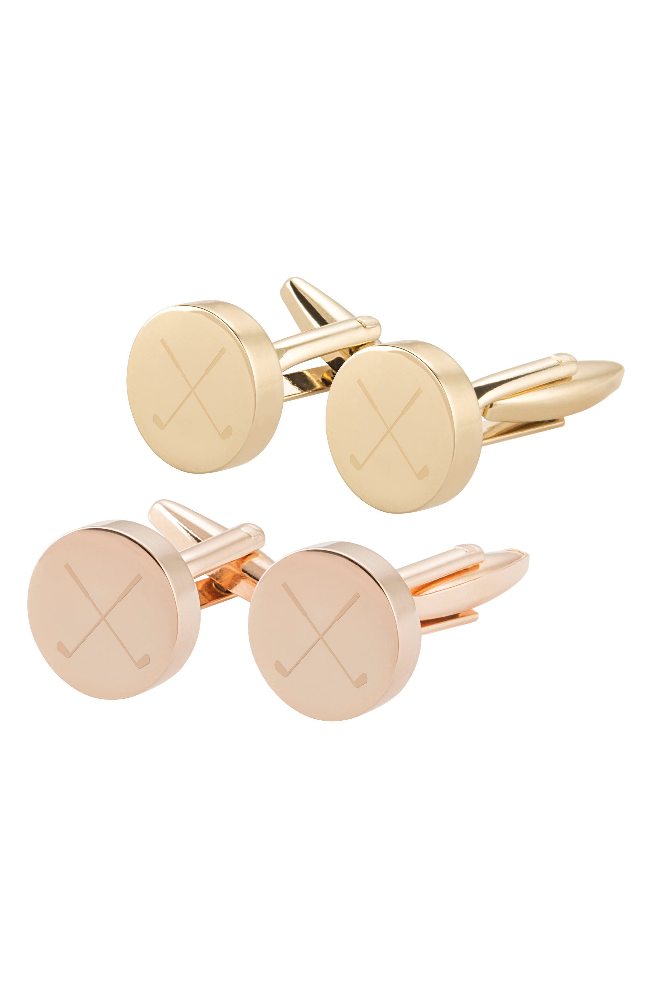 Golf Cuff Links,                             Alternate thumbnail 6, color,                             Rose Gold
