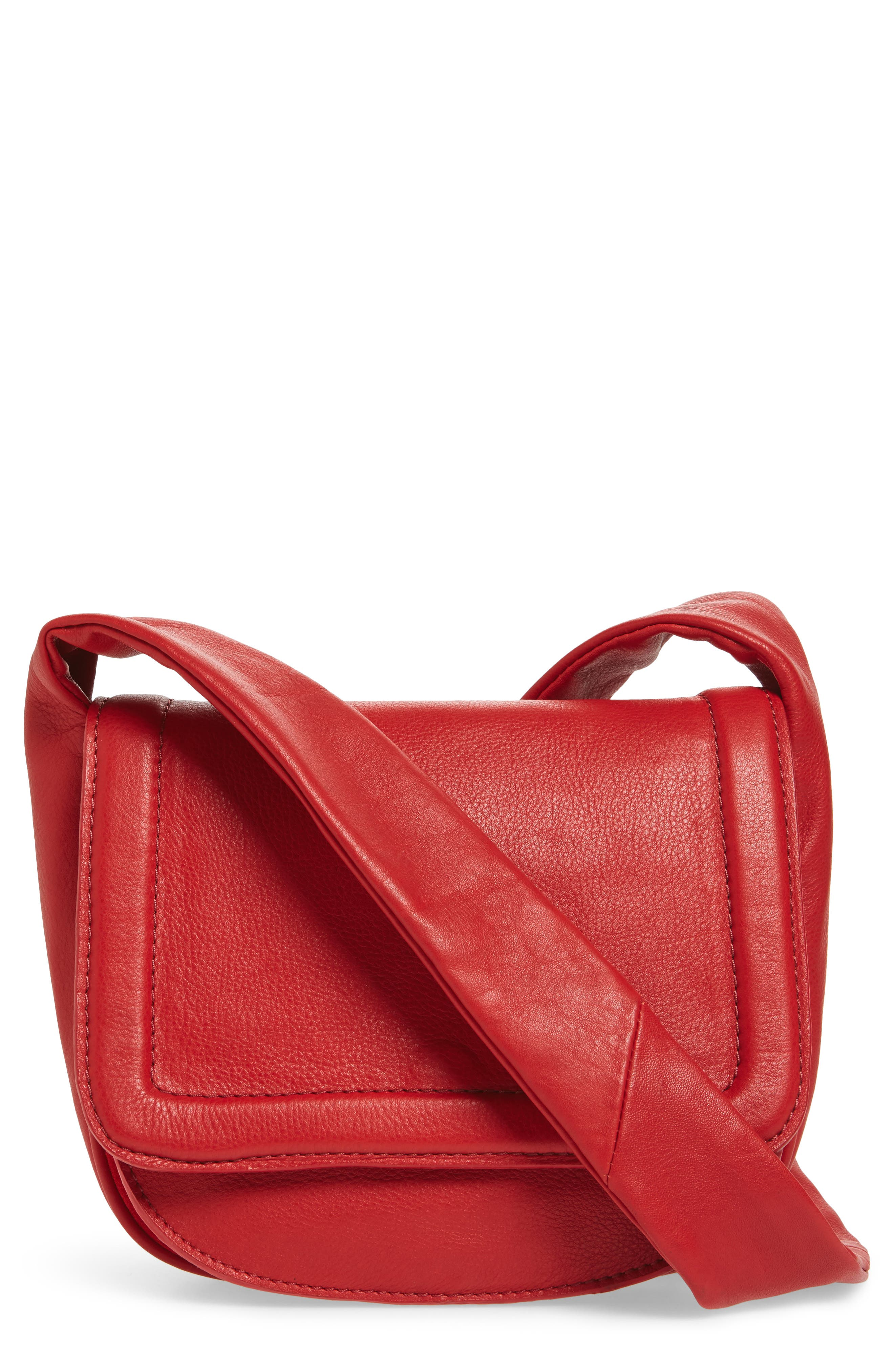 Main Image - Topshop Jasmine Leather Saddle Bag