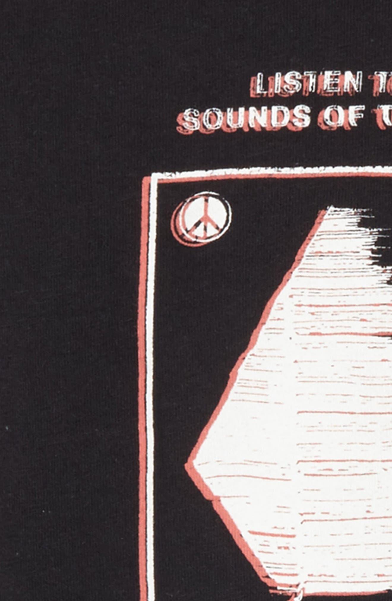 Sound T-Shirt,                             Alternate thumbnail 2, color,                             Black