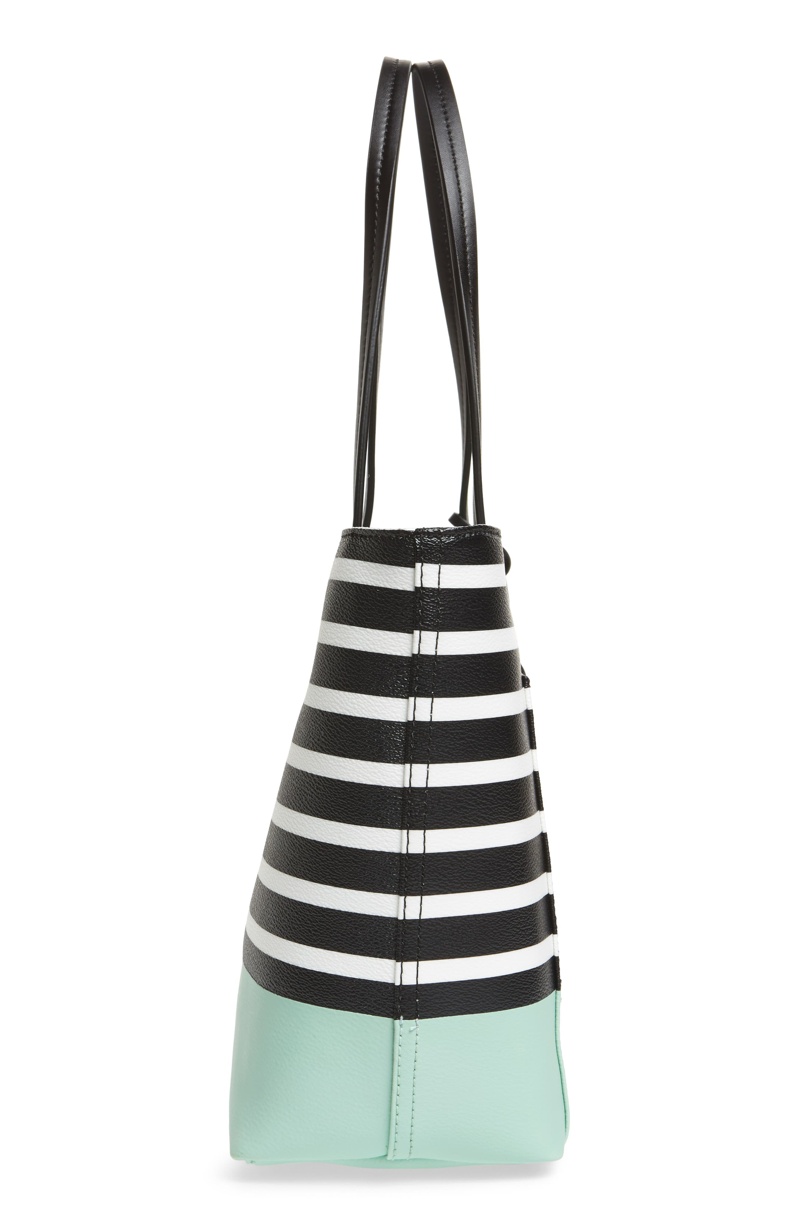 hyde lane dipped stripe - small riley tote,                             Alternate thumbnail 4, color,                             Sea Glass Green Multi