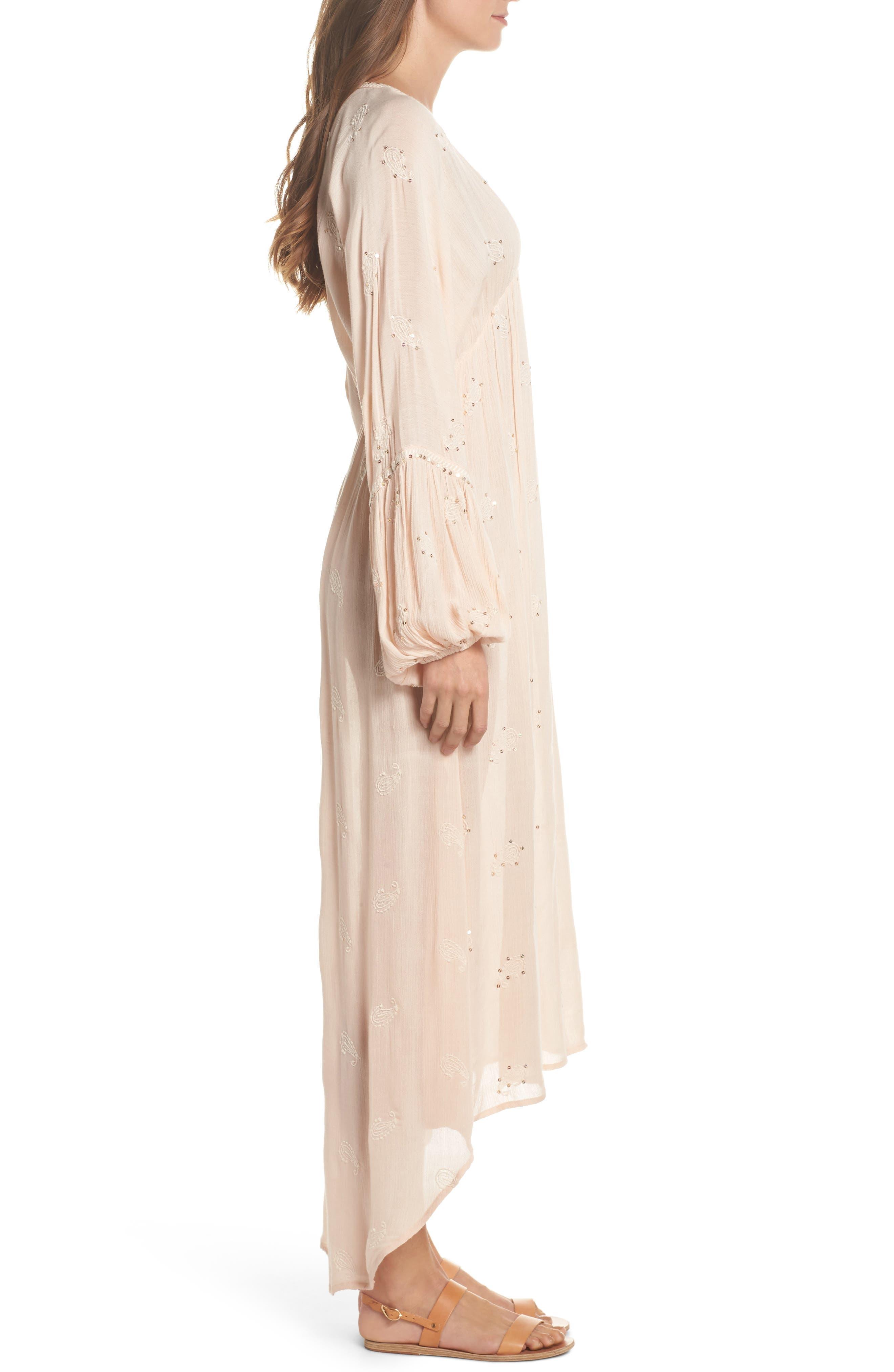 Mercer Cover-Up Maxi Dress,                             Alternate thumbnail 3, color,                             Blush