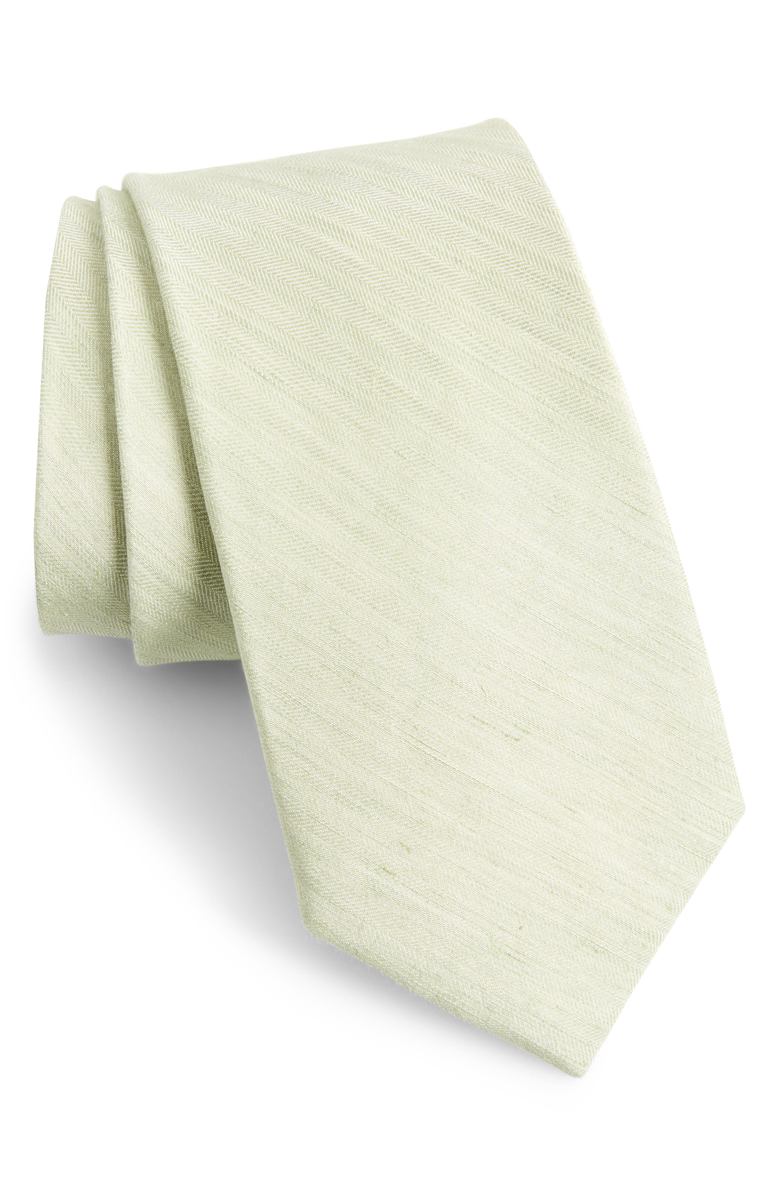 The Tie Bar Linen Row Linen & Silk Tie (X-Long)