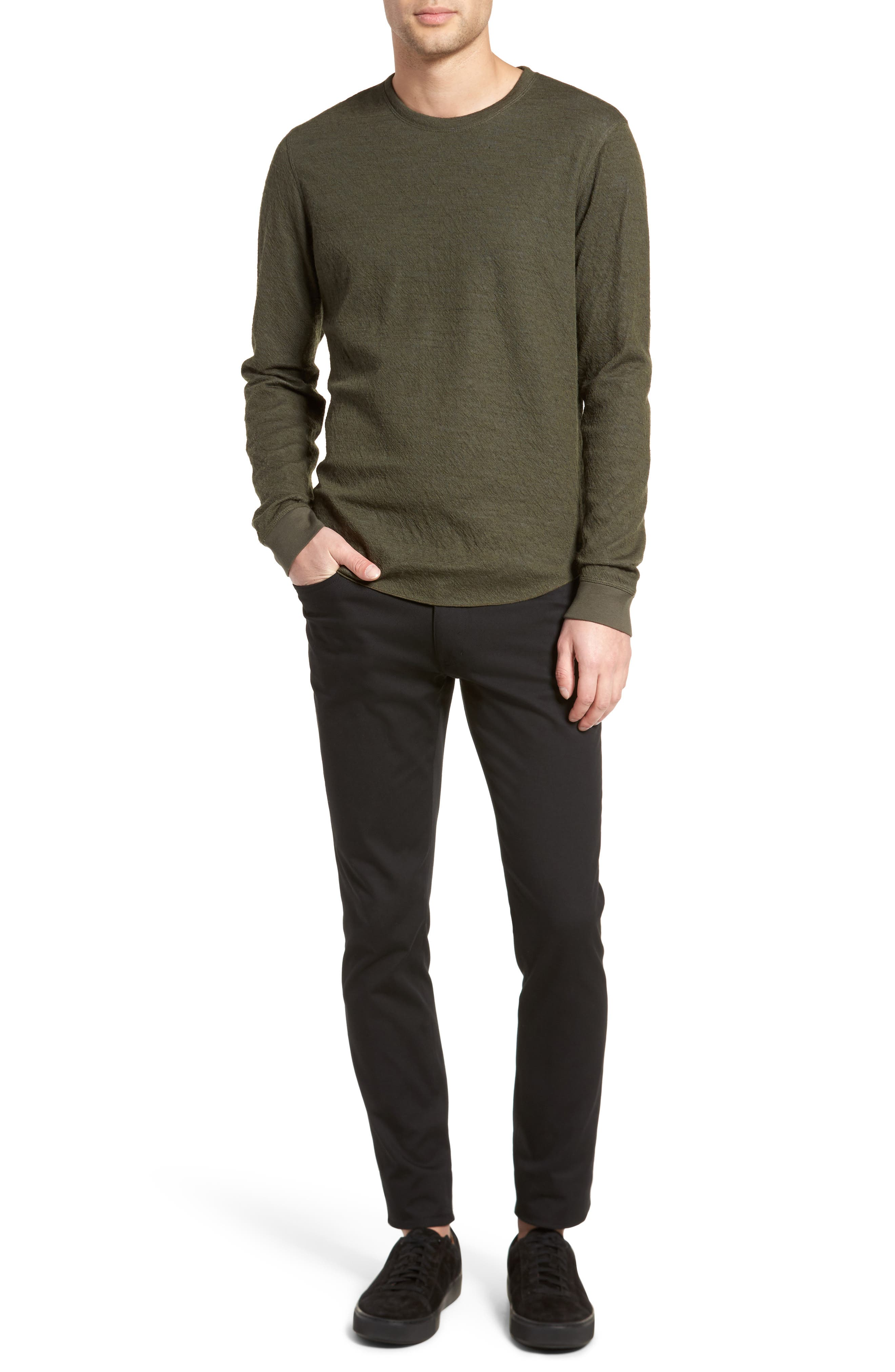 Alternate Image 2  - Vince Double Knit Long Sleeve Shirt