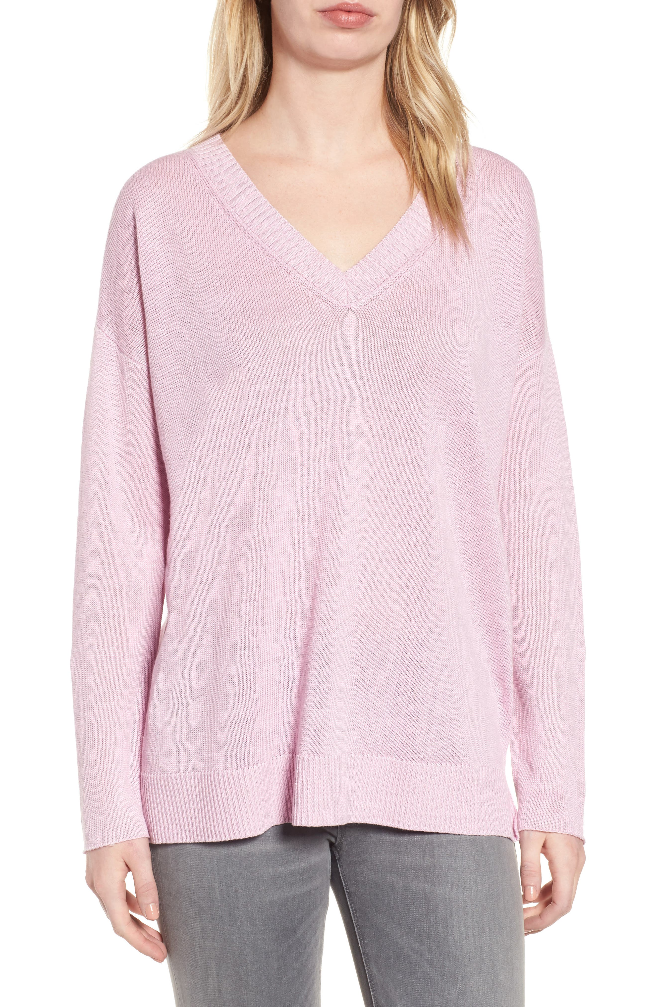 Eileen Fisher Organic Linen Sweater (Regular & Petite)