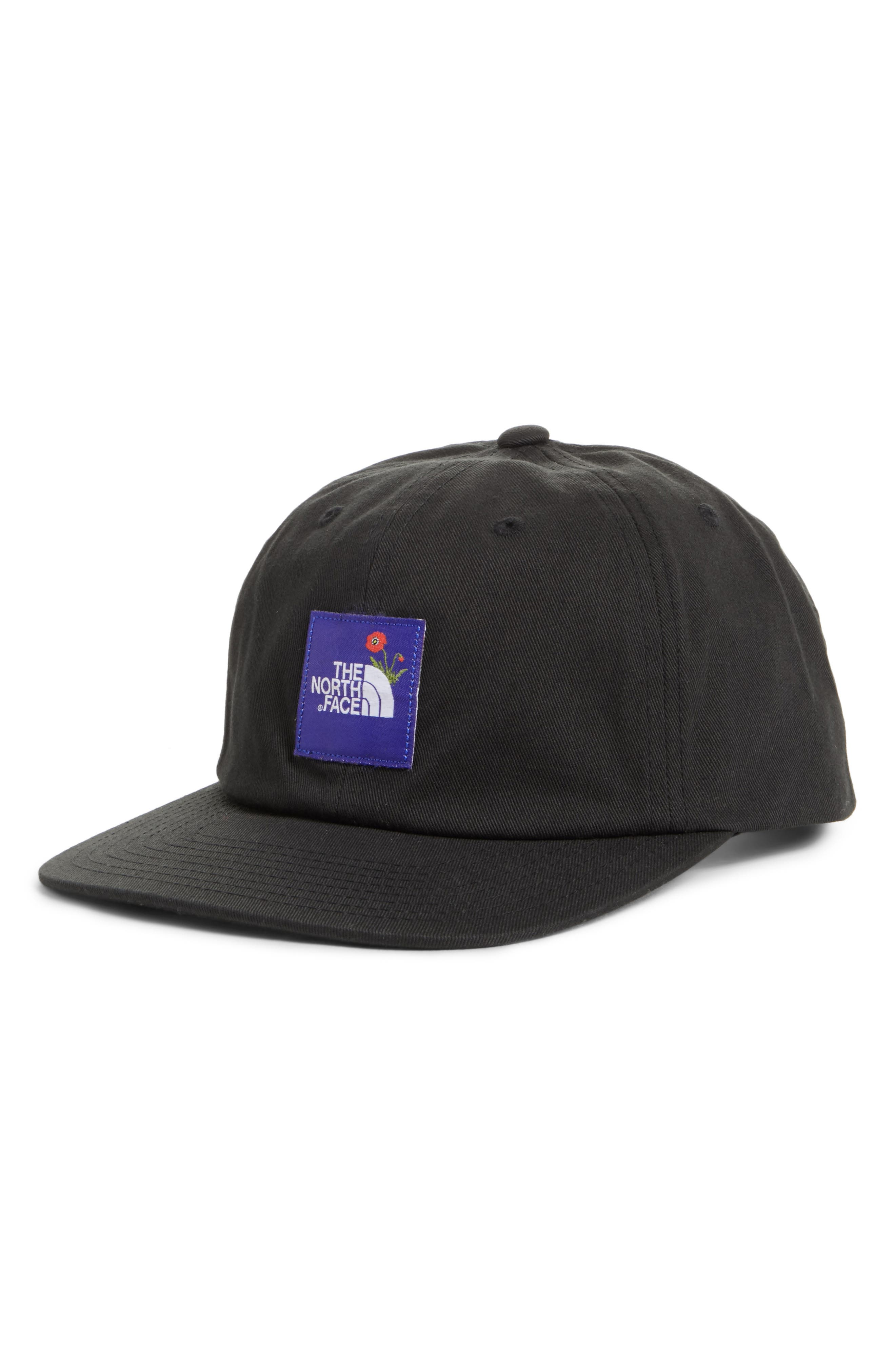 Poppy Adjustable Cap,                             Main thumbnail 1, color,                             Tnf Black