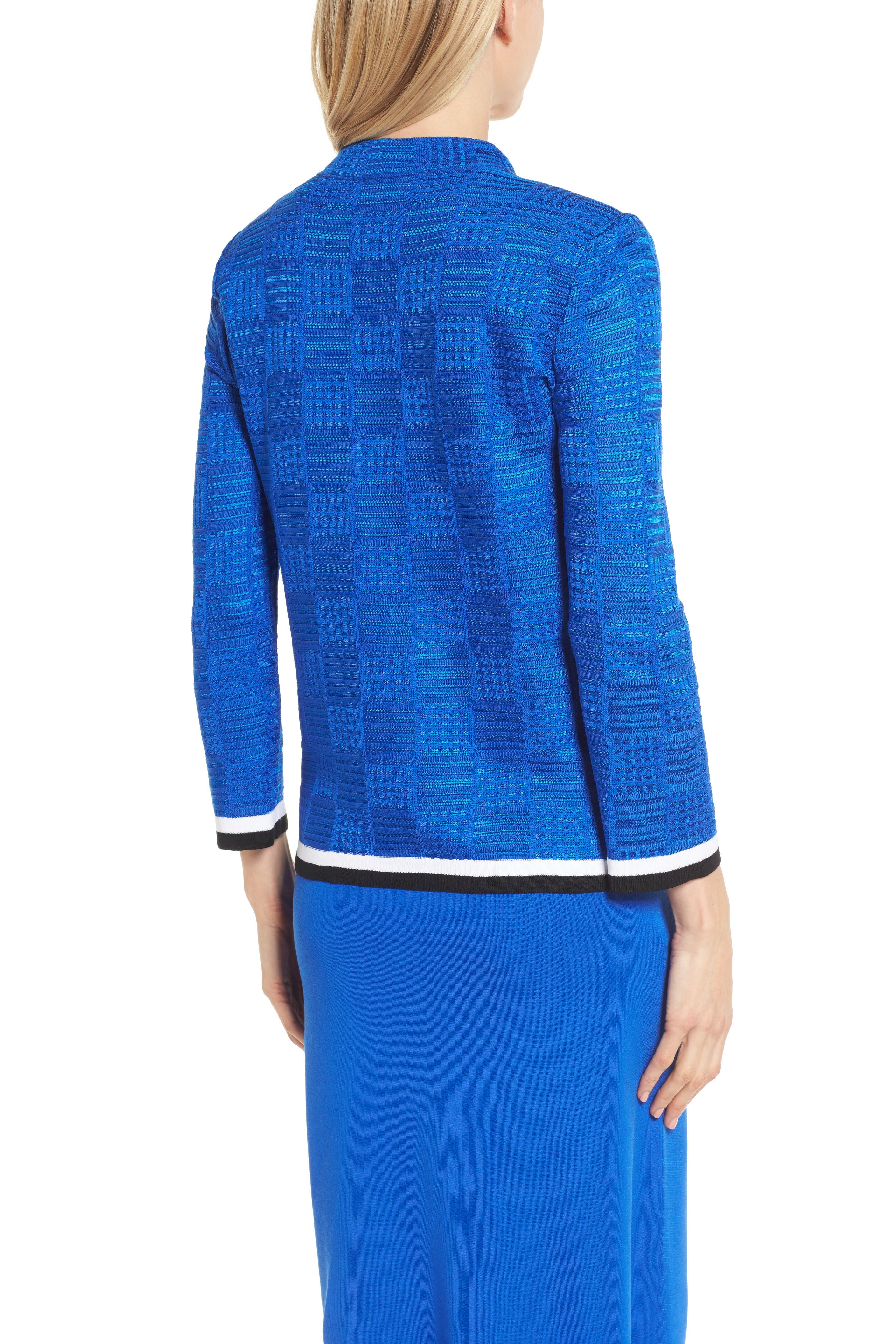 Basketweave Jacquard Jacket,                             Alternate thumbnail 2, color,                             Patriot Blue/ Black/ White
