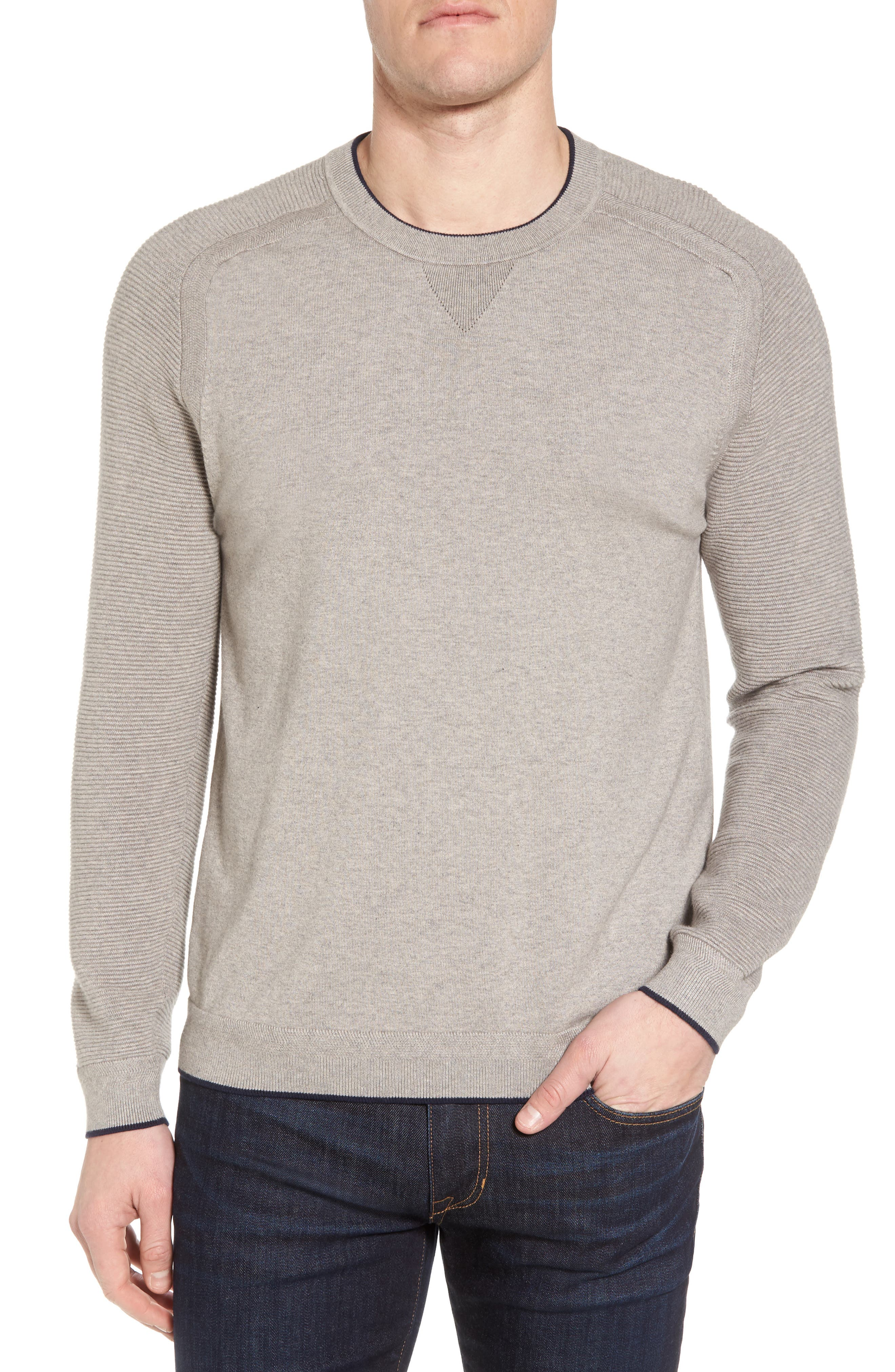 Main Image - Ted Baker London Kayfed Rib Sleeve Sweater
