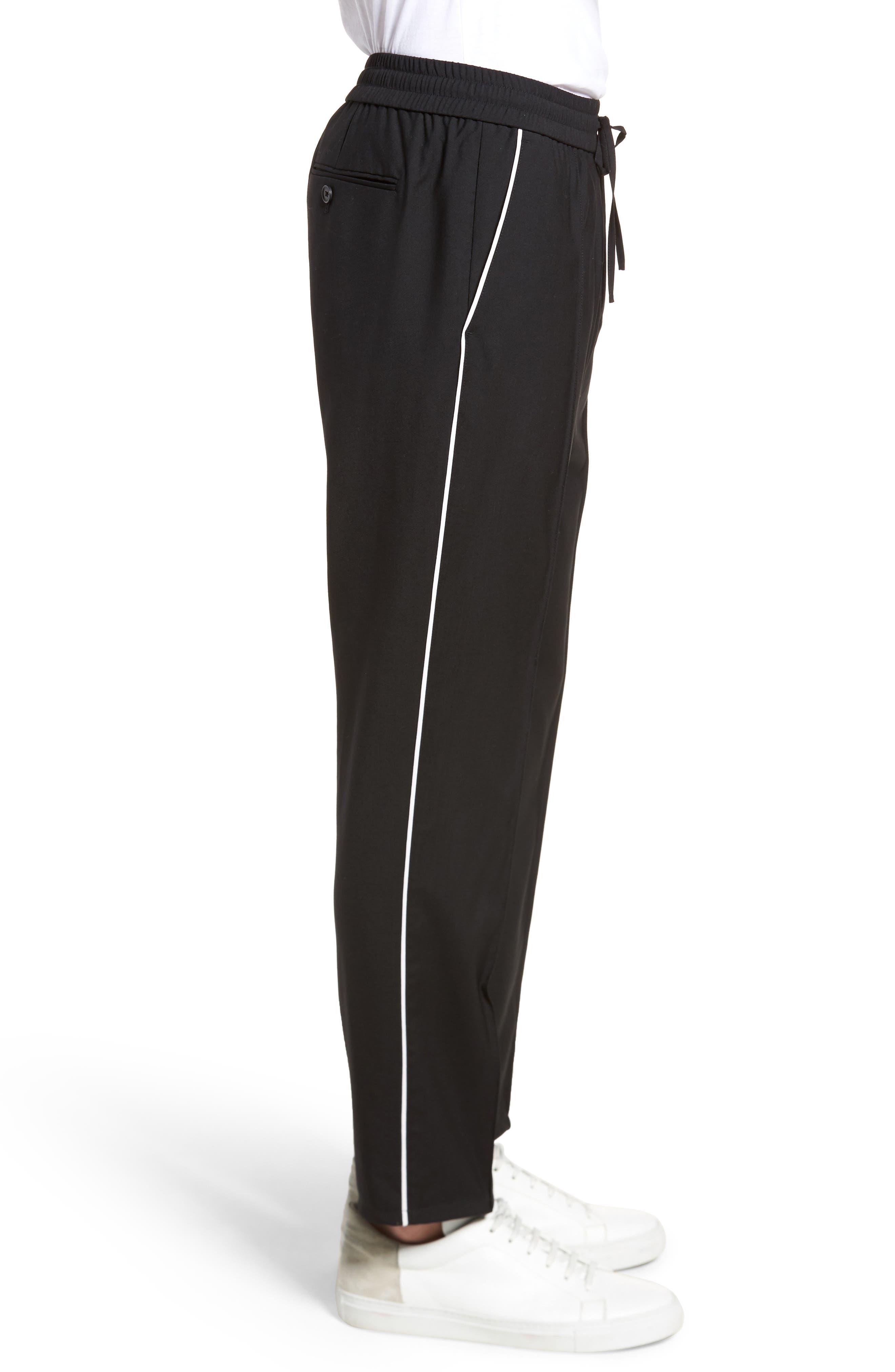 Regular Fit Track Pants,                             Alternate thumbnail 3, color,                             Black