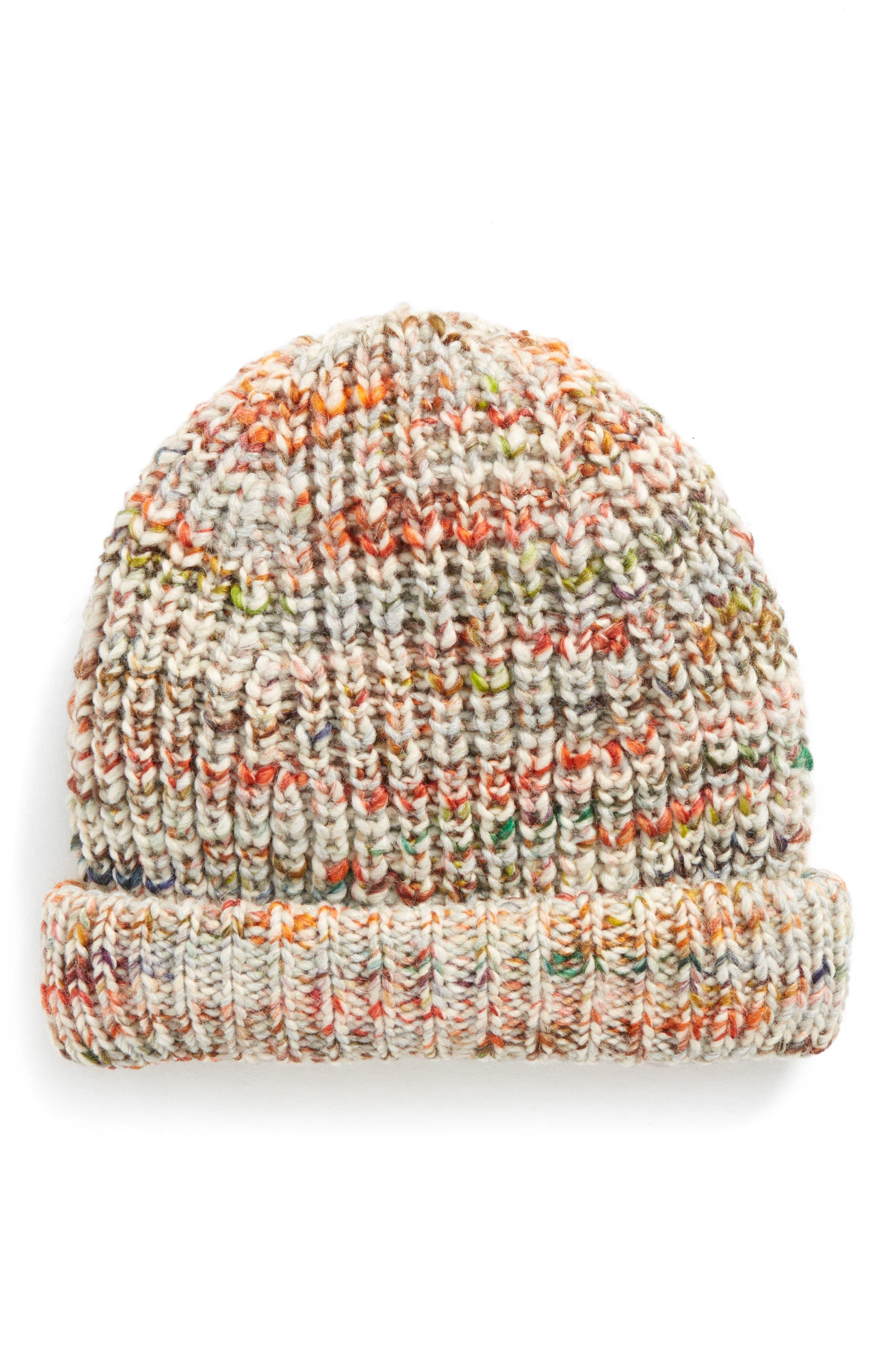 Zefir Knit Beanie,                         Main,                         color, White Mix