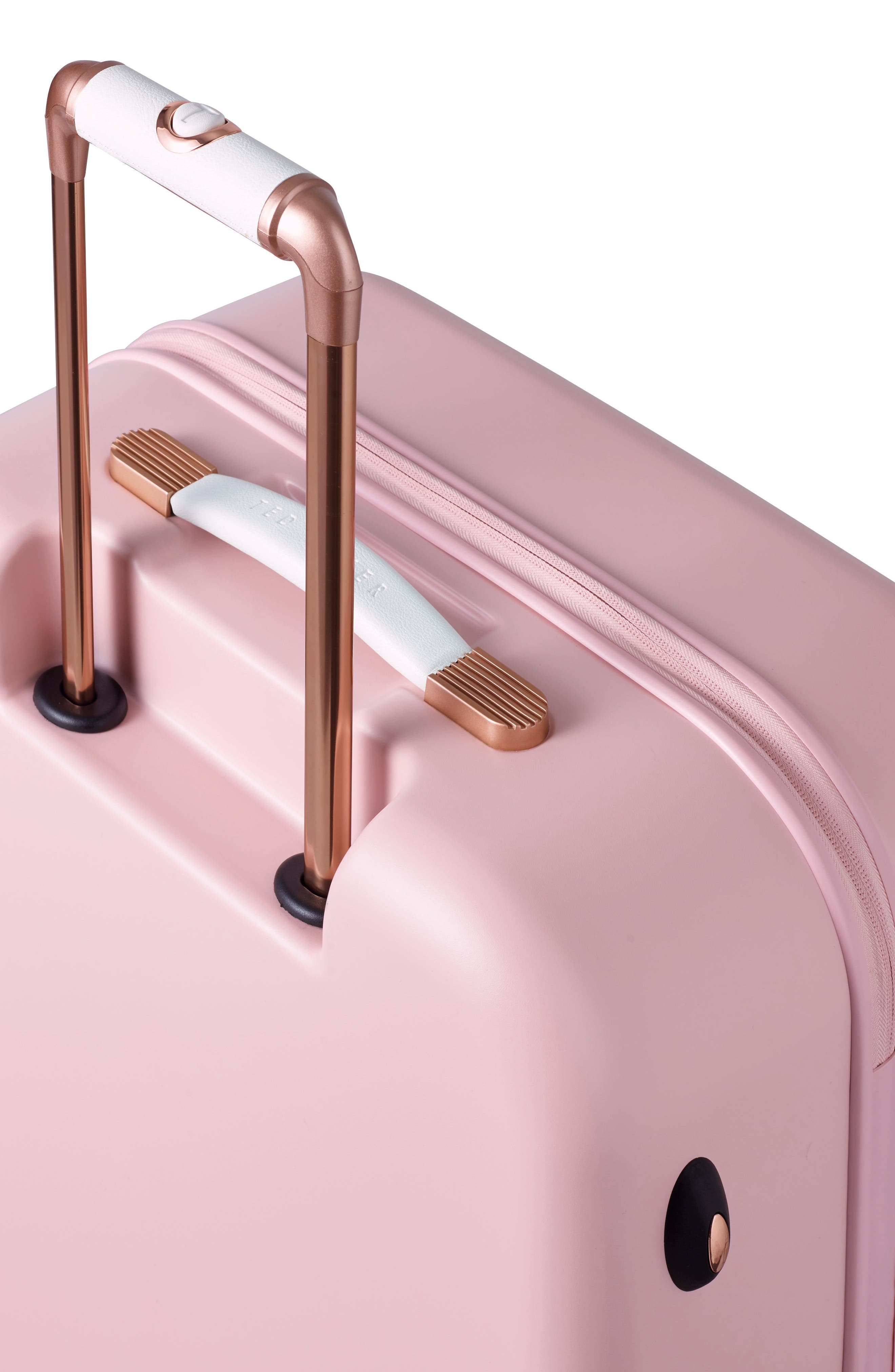 Medium Beau Bow Embossed Four-Wheel 27-Inch Trolley Suitcase,                             Alternate thumbnail 6, color,                             Pink