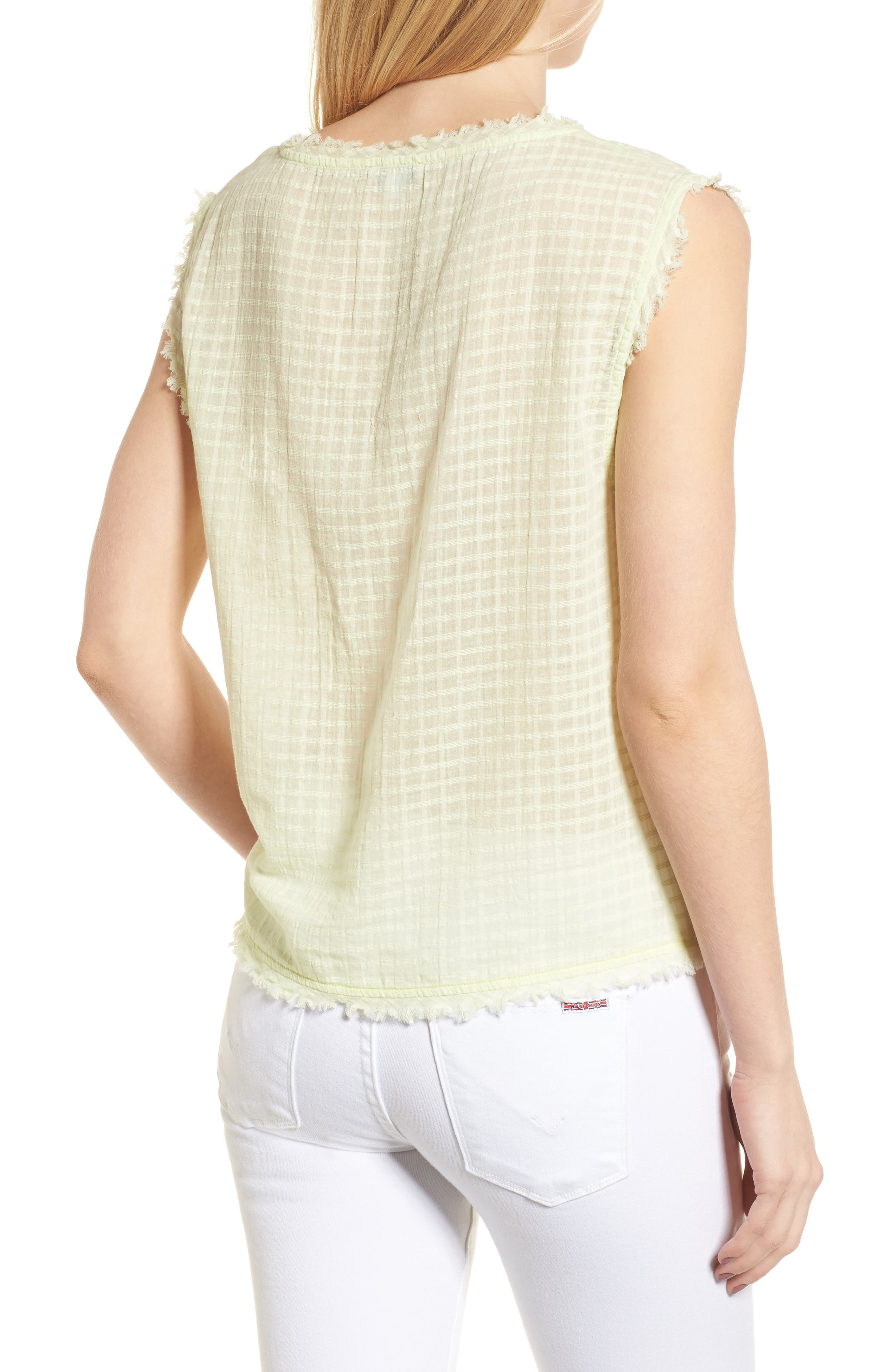 Check Woven Tank,                             Alternate thumbnail 3, color,                             Yellow Glow