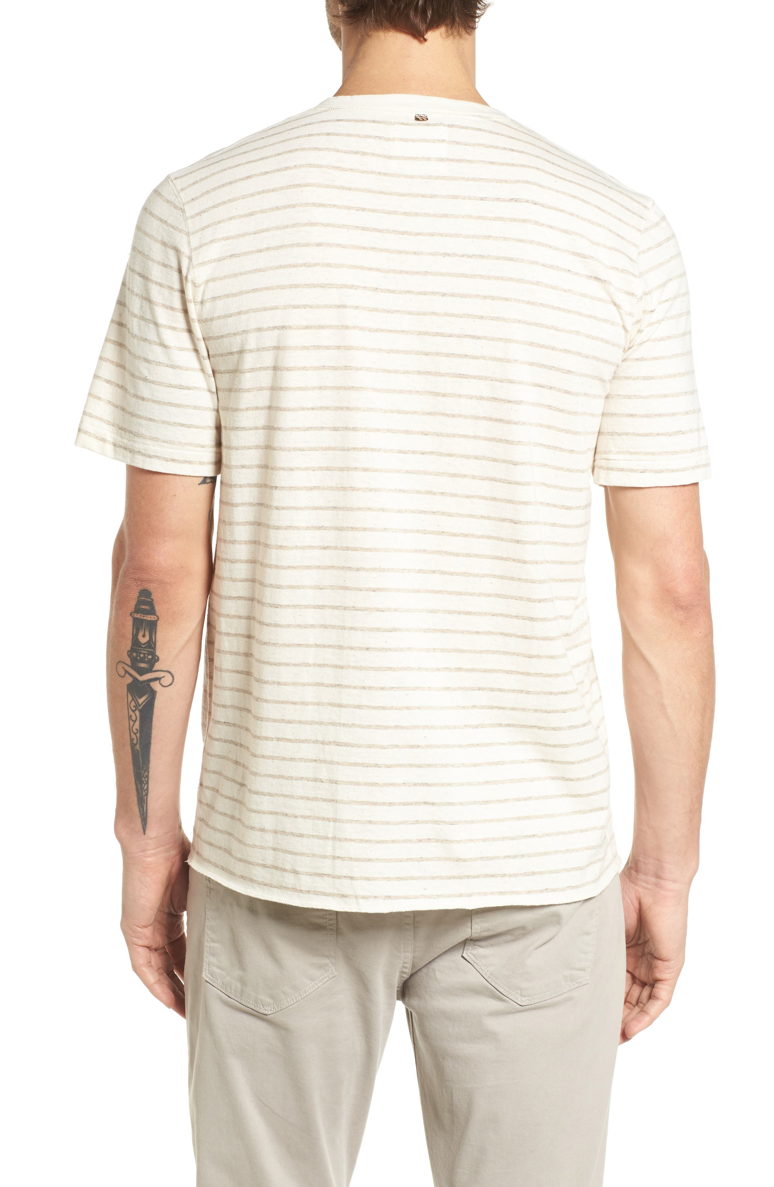 Slim Fit Henley,                             Alternate thumbnail 2, color,                             Oatmeal