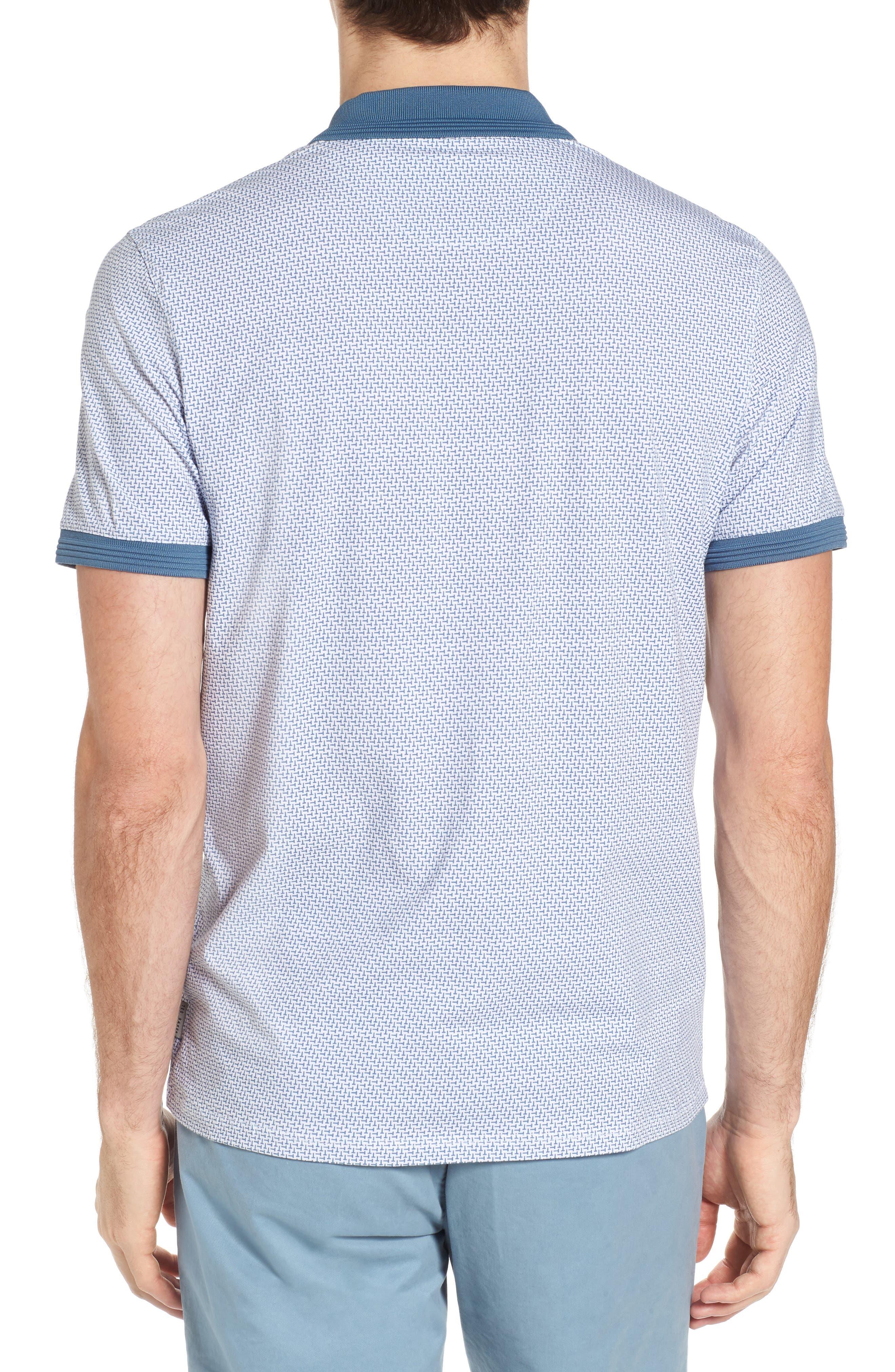 Sloughi Trim Fit Stretch Polo Shirt,                             Alternate thumbnail 2, color,                             Blue