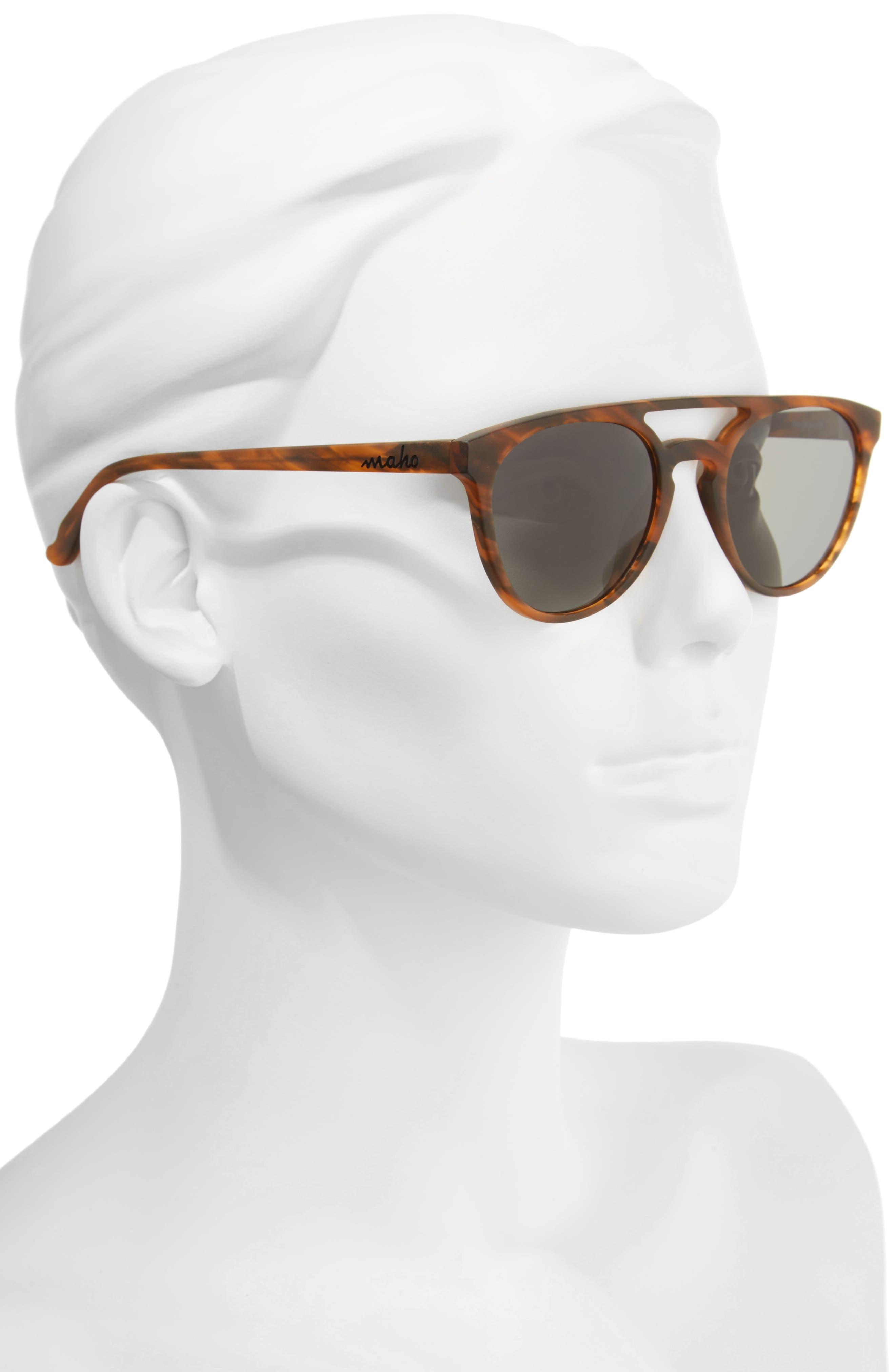 Reykjavík 49mm Polarized Round Sunglasses,                             Alternate thumbnail 2, color,                             Whisky