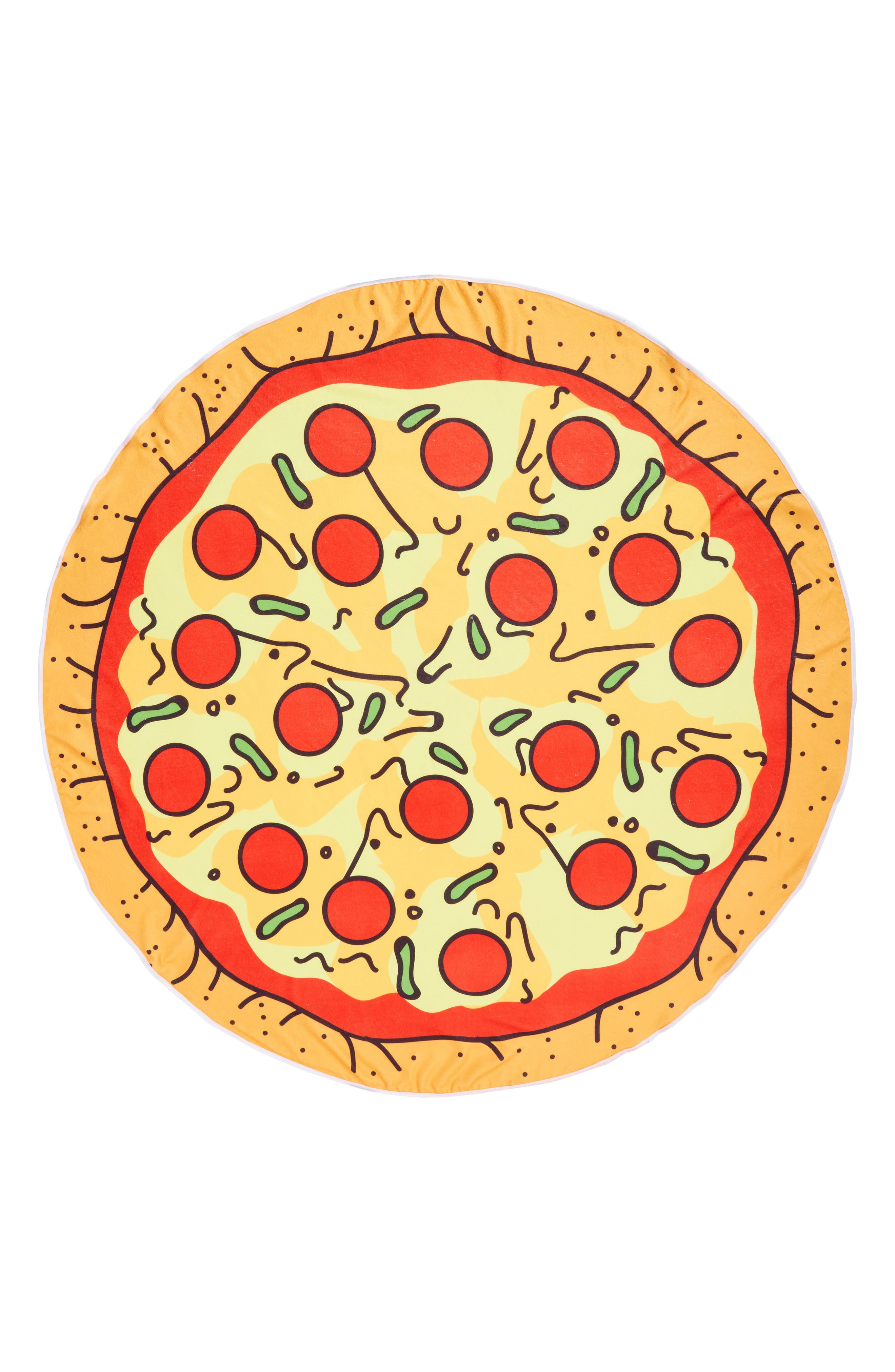 Alternate Image 1 Selected - Capelli New York Cheesy Pizza Round Towel