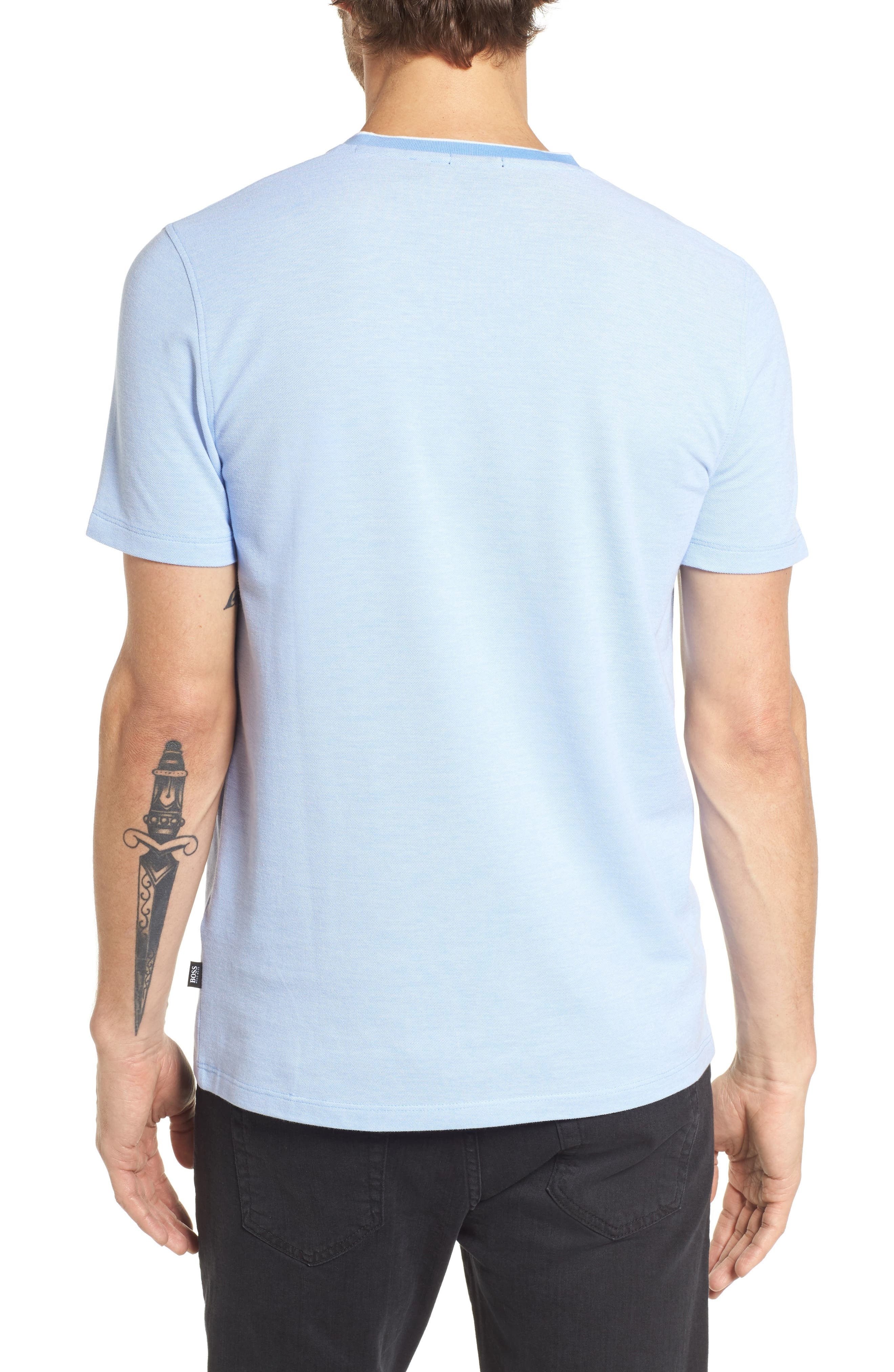 Tilson Slim Fit V-Neck T-Shirt,                             Alternate thumbnail 2, color,                             Blue