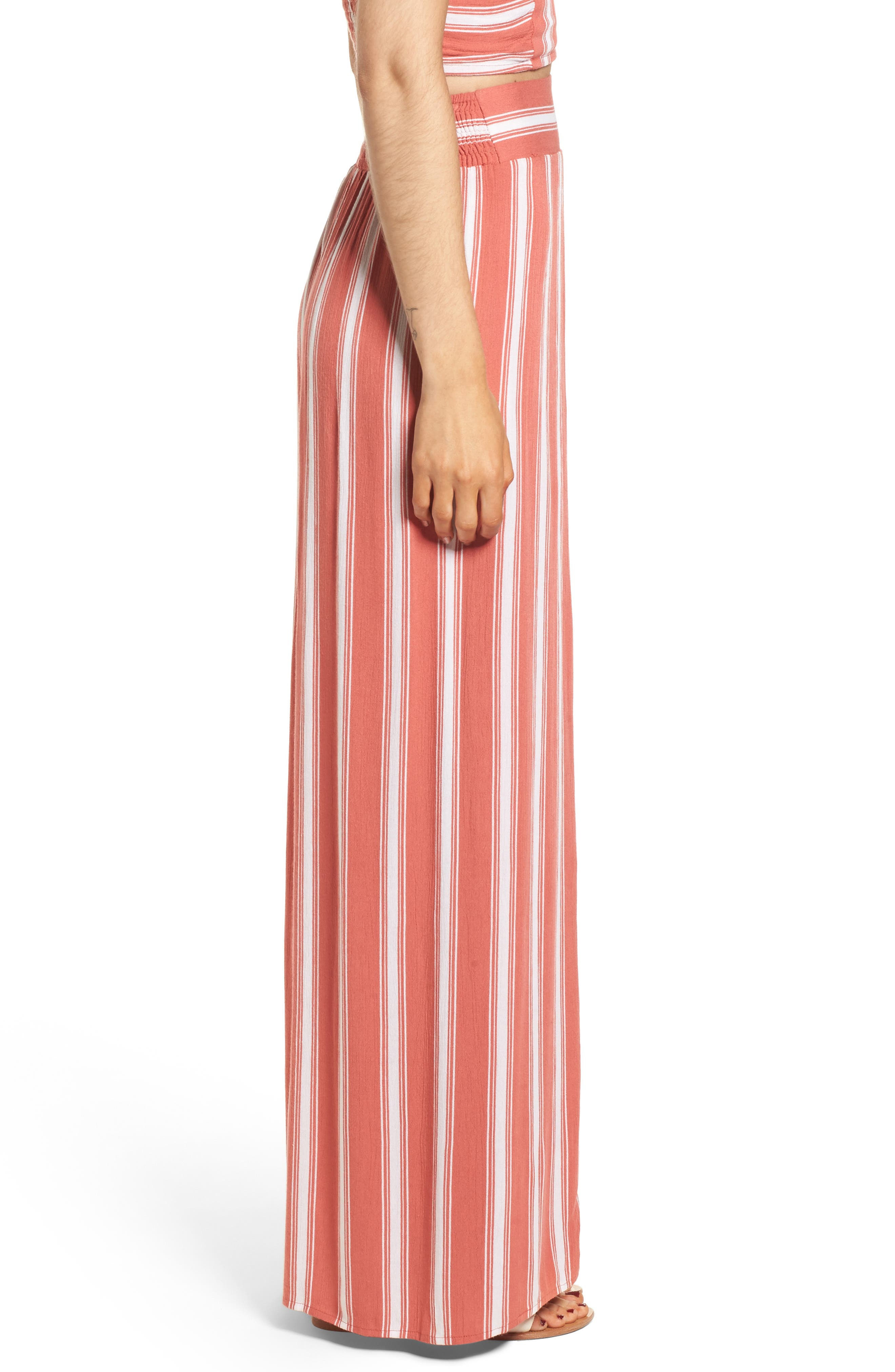 Alternate Image 4  - Band of Gypsies Stripe Split Leg Walkthrough Pants
