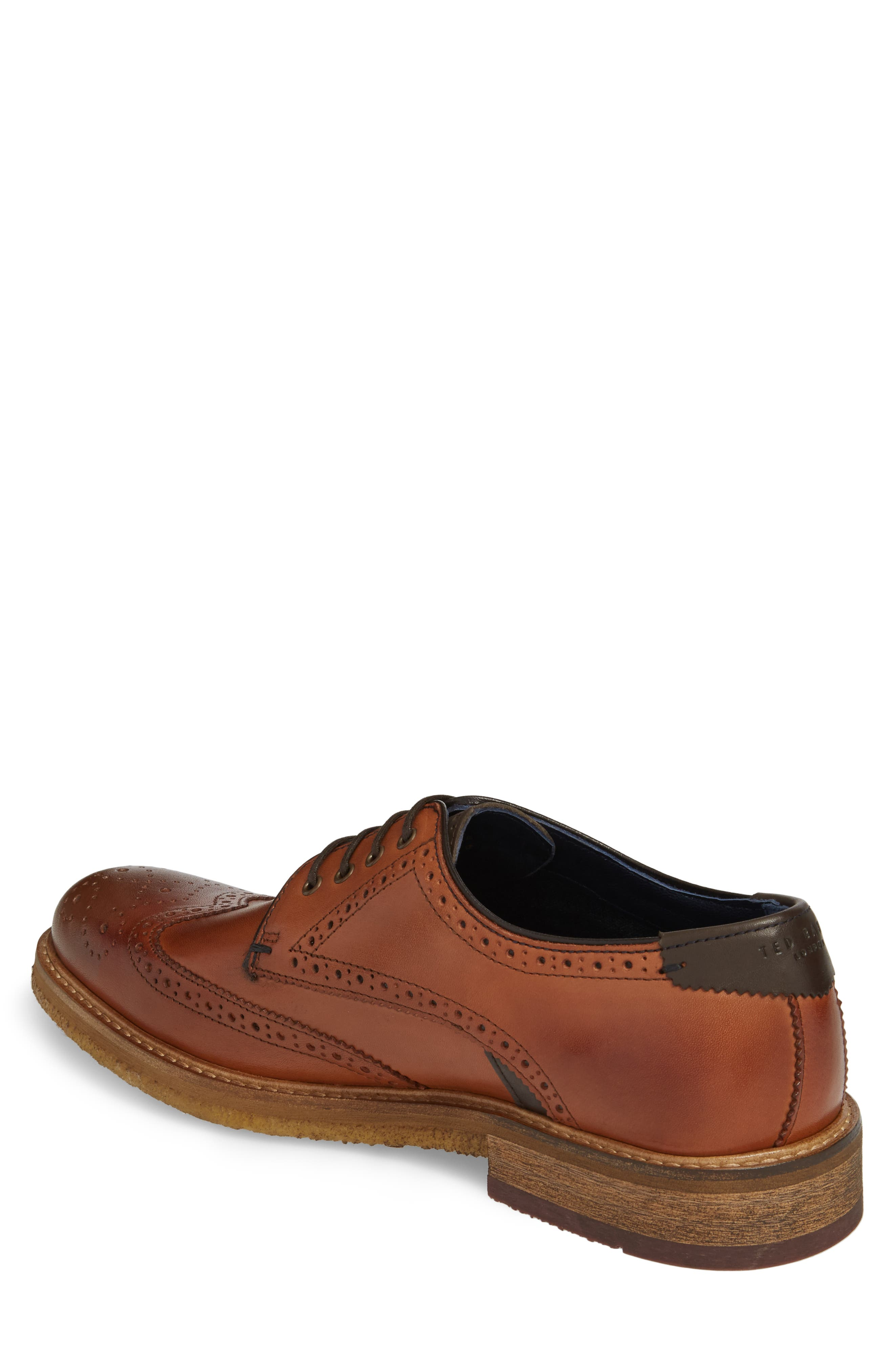 Prycce Wingtip Derby,                             Alternate thumbnail 2, color,                             Tan Leather