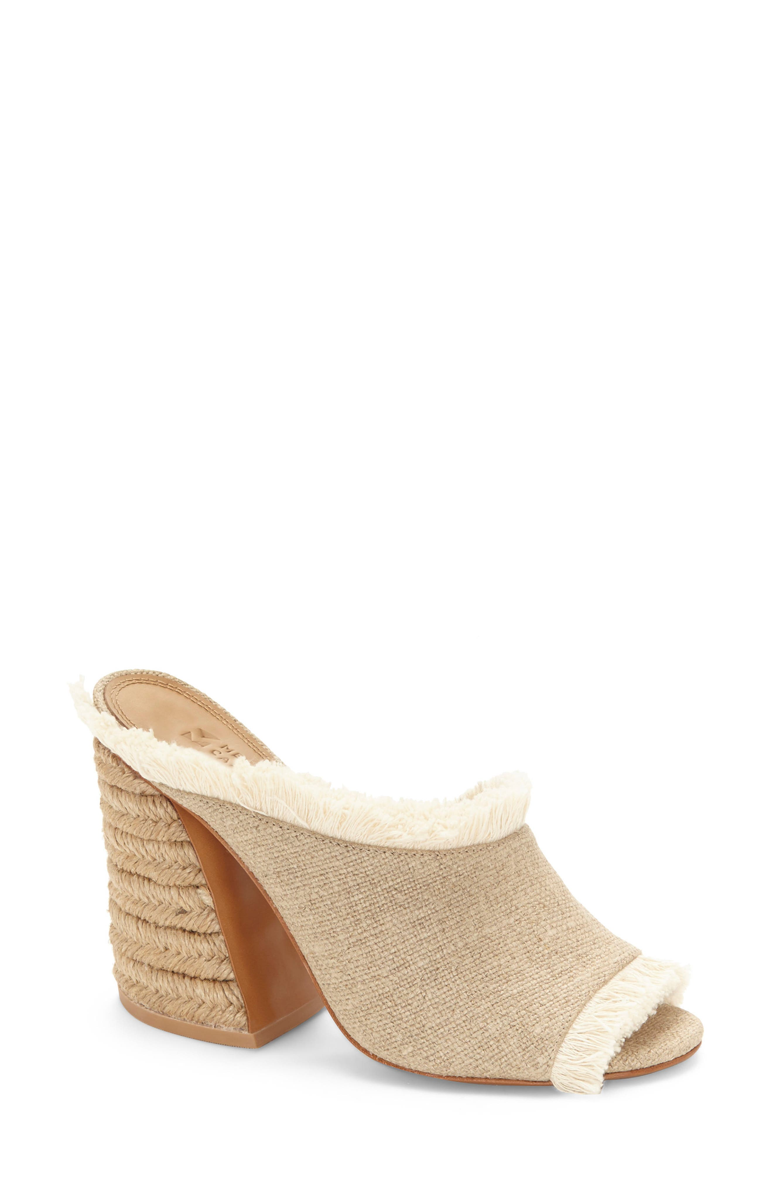 Izar Fringe Asymmetrical Sandal,                         Main,                         color, Natural