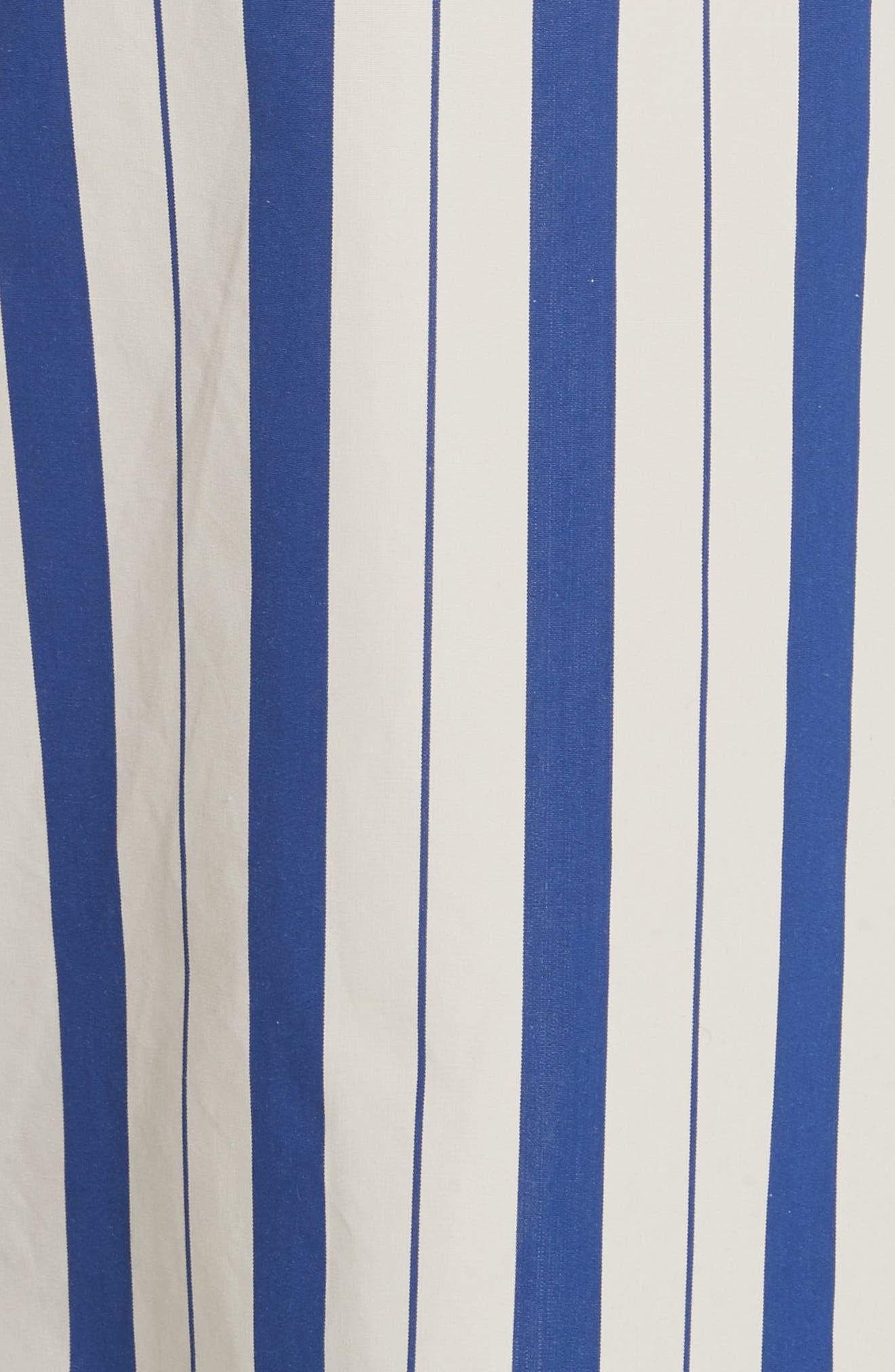 Stripe Wide Leg Pants,                             Alternate thumbnail 6, color,                             Blue Lagoon