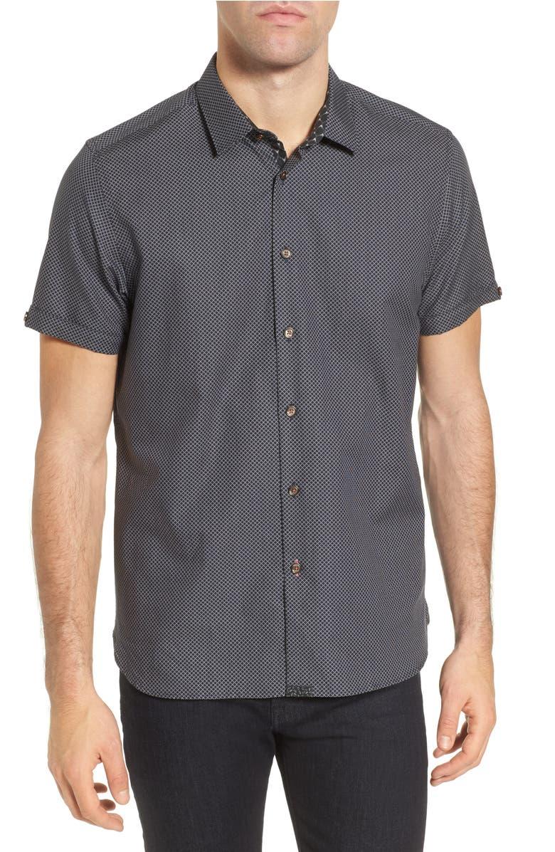 b10a436705b216 Ted Baker Gudvu Geo Regular Fit Button-Down Shirt In Navy ...